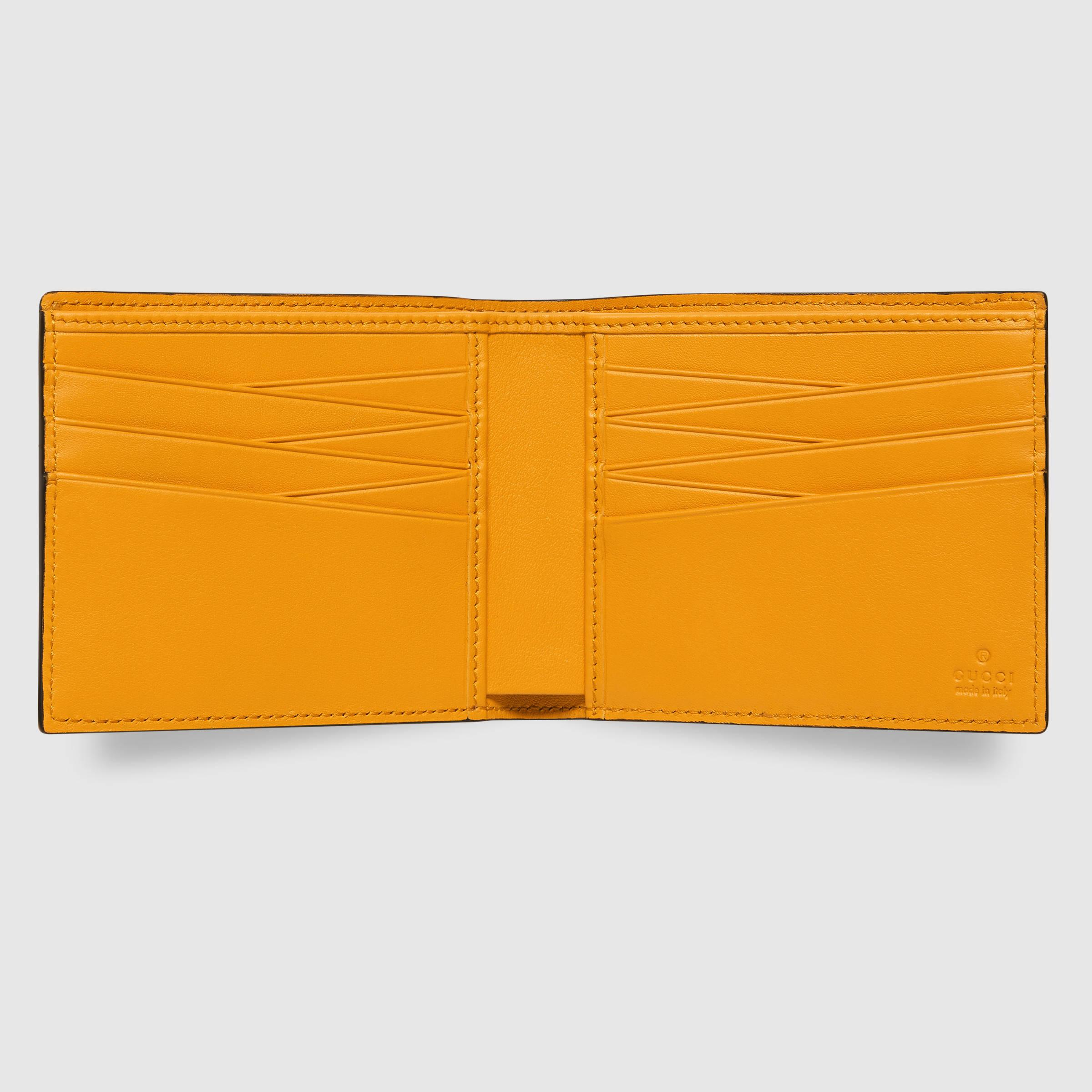 67322997d2e1ab Gucci Tiger Embossed Wallet in Yellow for Men - Lyst