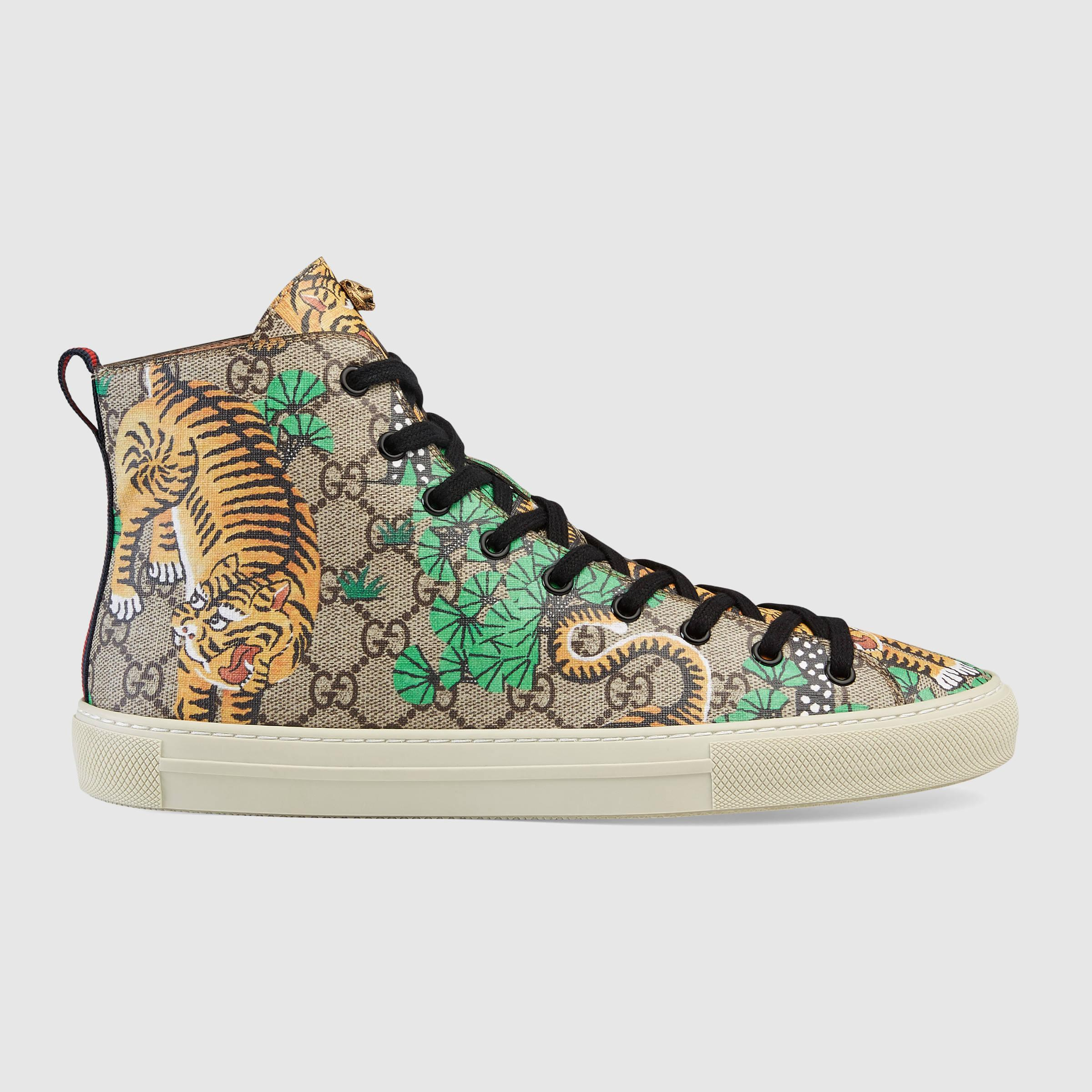 f576e8d69 Gucci Bengal High-top Sneaker in Brown for Men - Lyst