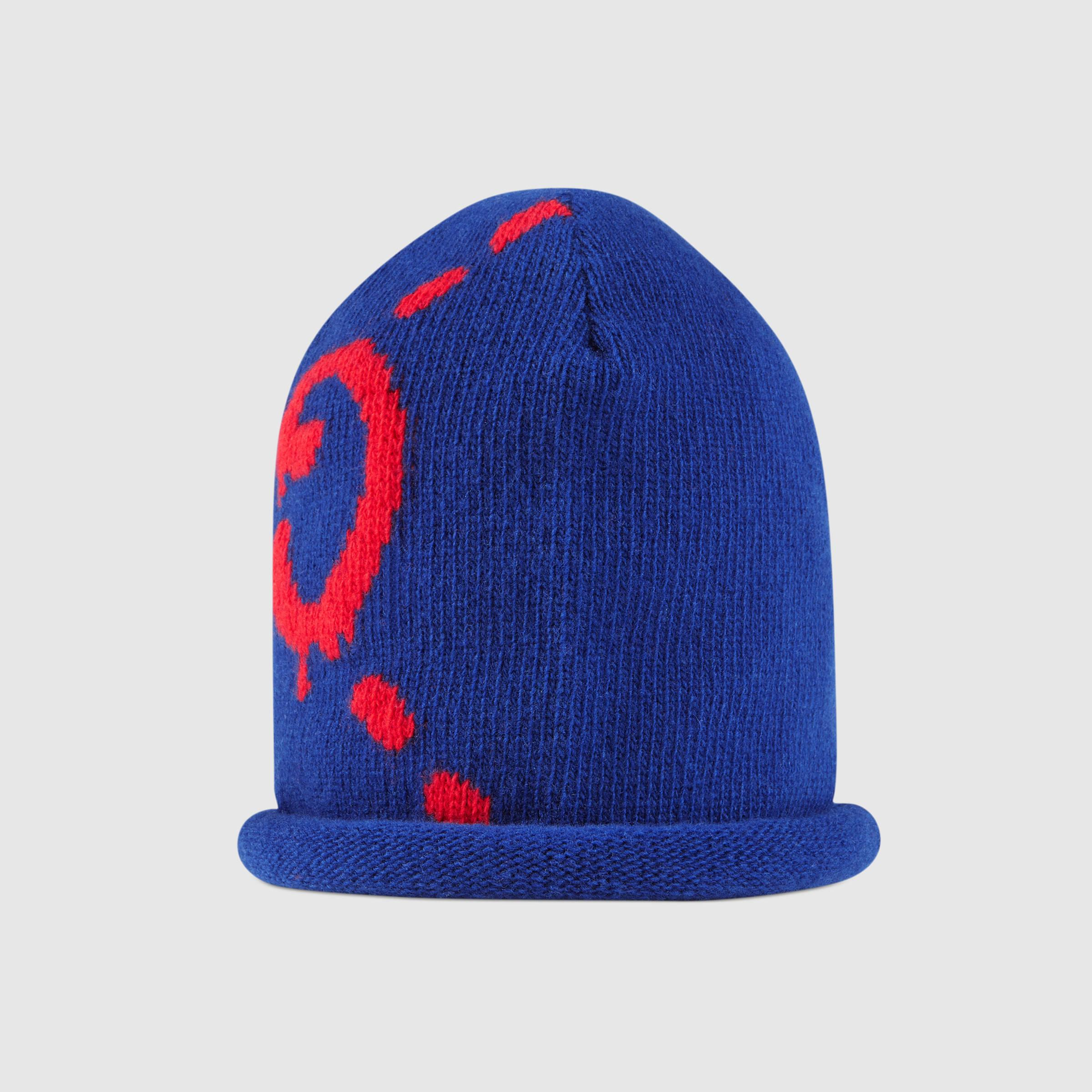 212470d50c367 Gucci Ghost Wool Hat in Blue - Lyst