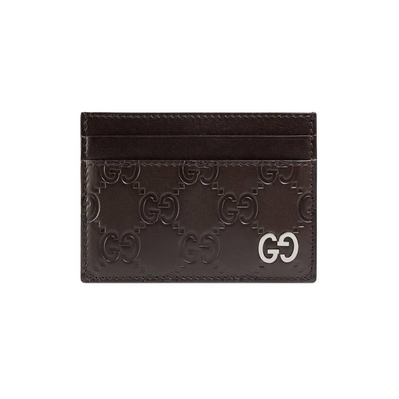 0f28242d37a Lyst - Gucci Signature Card Case in Black for Men