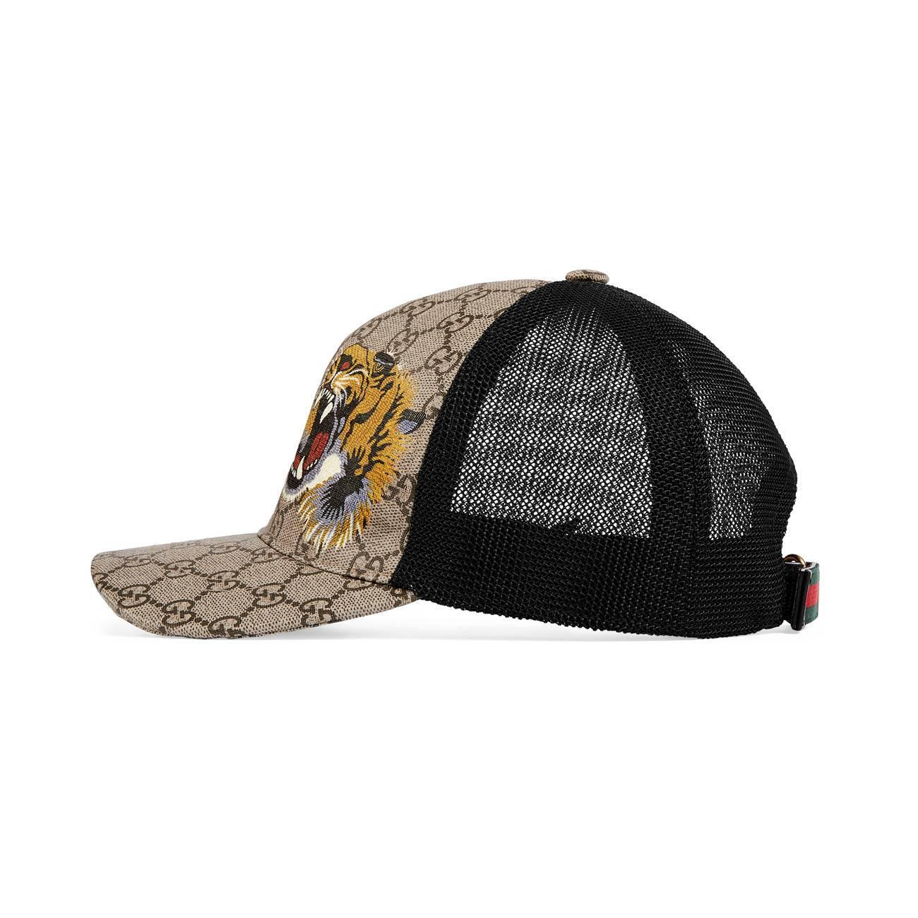 Gucci - Multicolor Tigers Print GG Supreme Baseball Hat for Men - Lyst.  View fullscreen a683f493ecd3