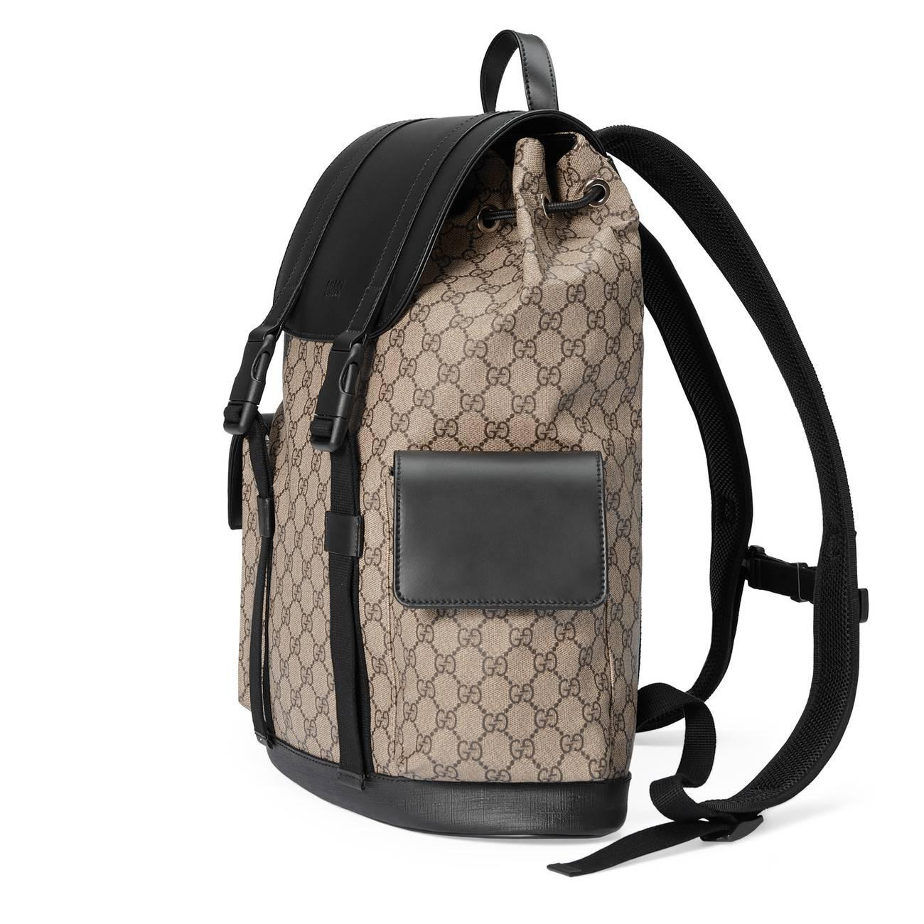 ad2635197a9b Gucci - Natural Soft GG Supreme Backpack for Men - Lyst. View fullscreen