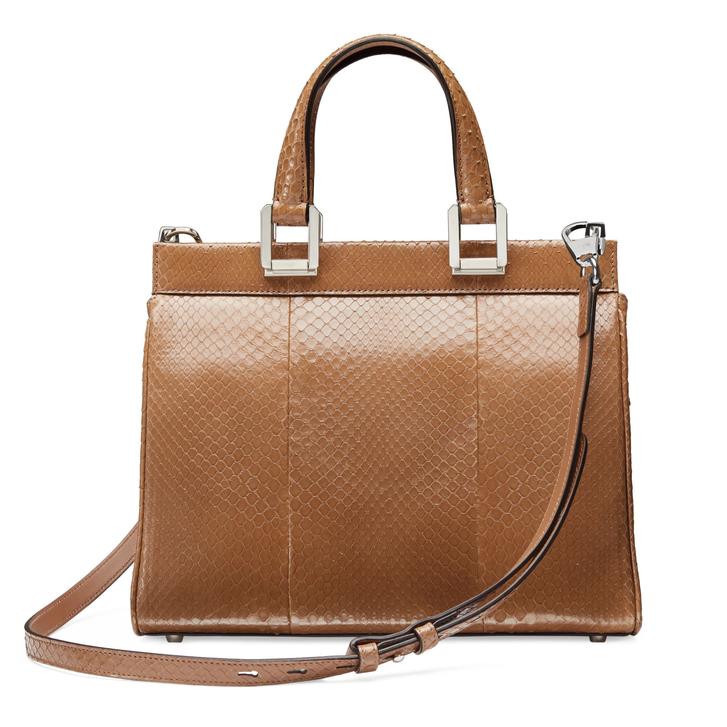 e13374b2e26 Gucci - Natural Zumi Snakeskin Small Top Handle Bag - Lyst. View fullscreen