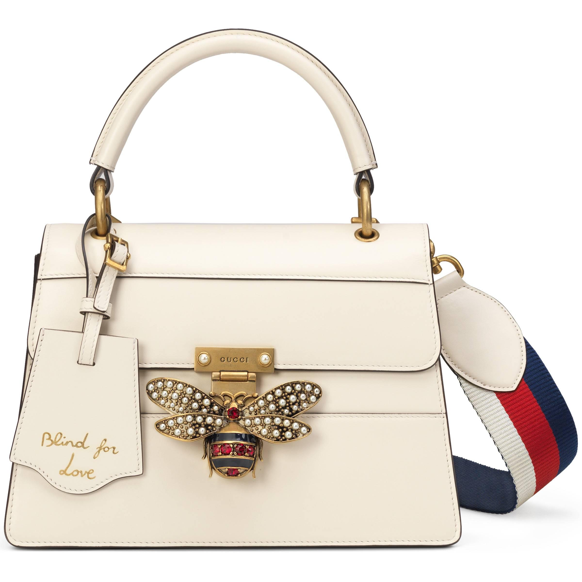 46a848e5d80 Gucci Queen Margaret Small Top Handle Bag in White - Lyst