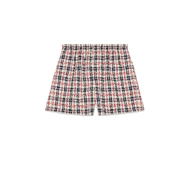 Tweed check shorts - Red Gucci 8r4wxBn
