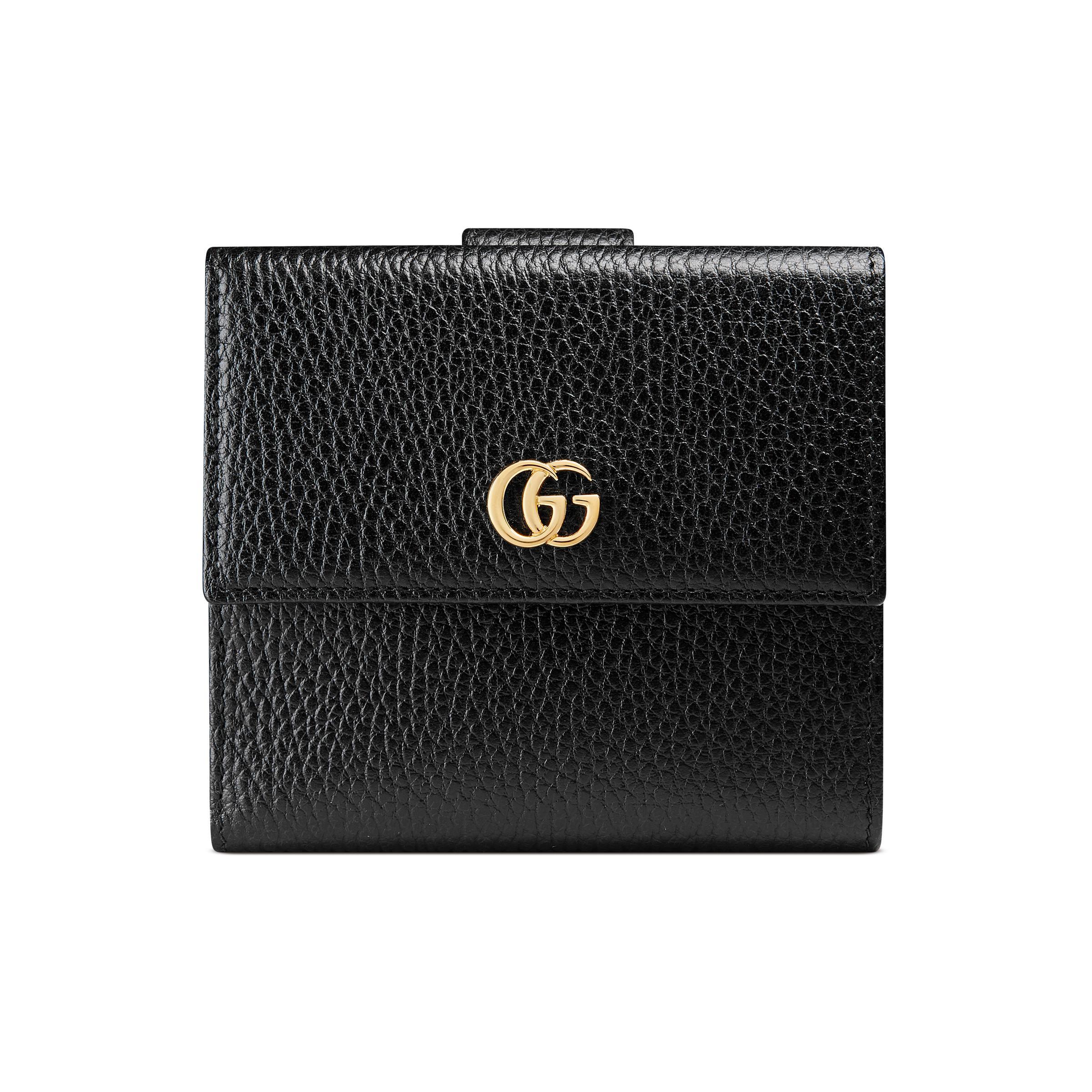 4f89f370f18f Gucci Bow Signature Wallet in Black - Lyst