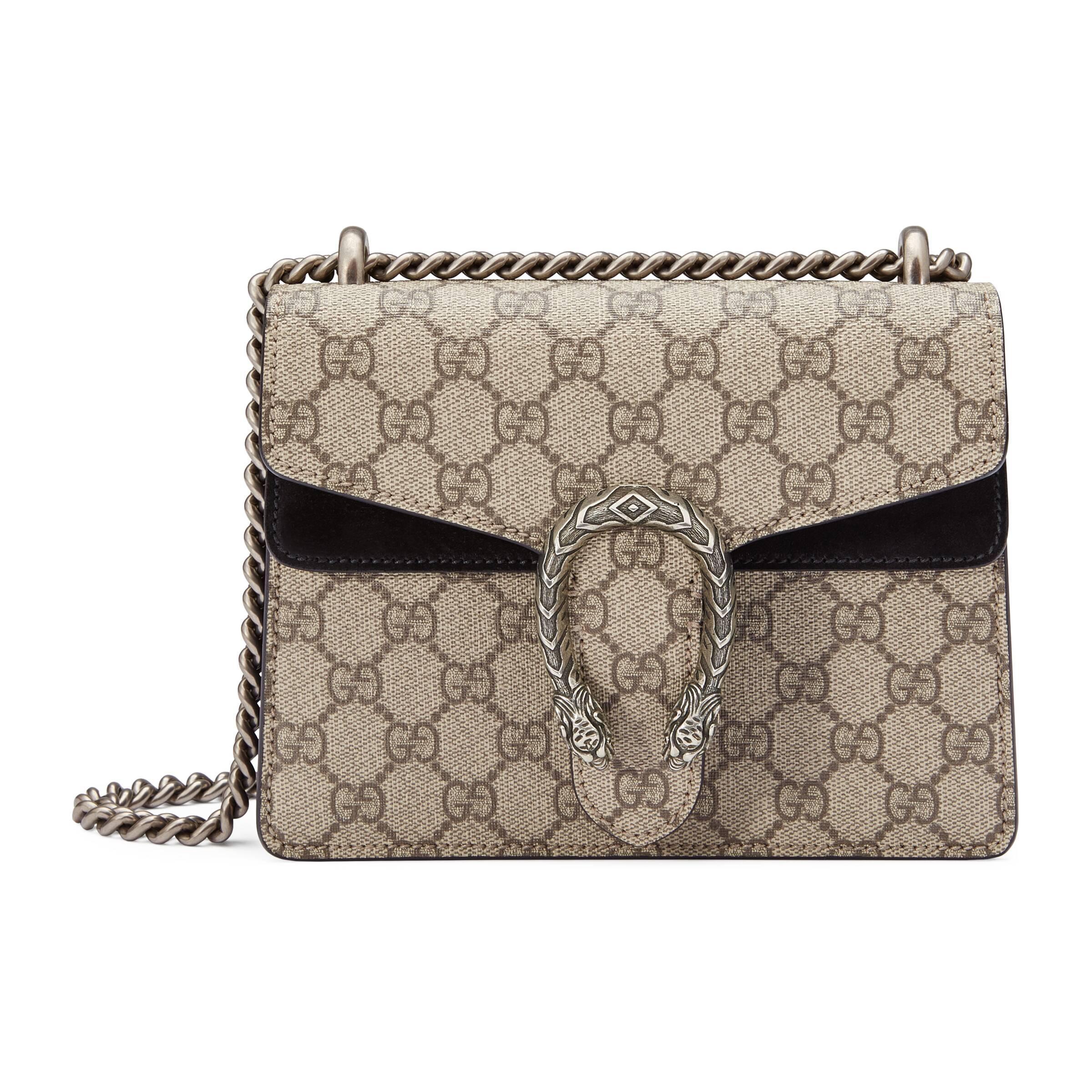 97275846bf882 Gucci Dionysus Mini-Tasche aus GG Supreme in Braun - Lyst