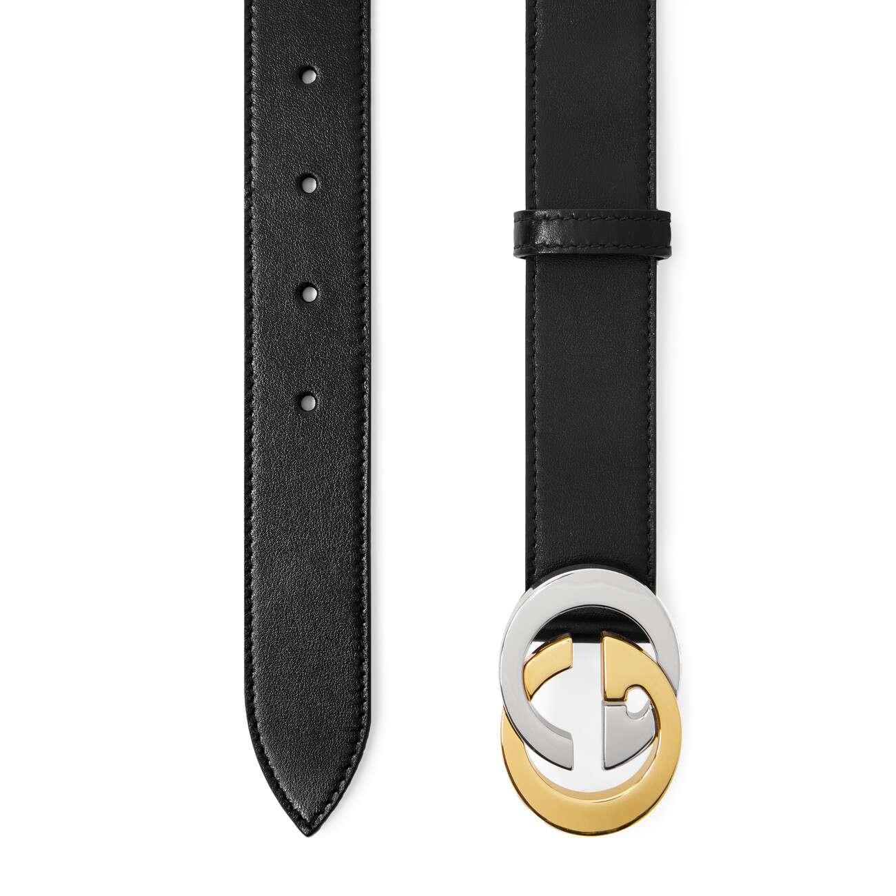 b869e9299a1 Gucci - Black Belt With Interlocking G Buckle for Men - Lyst. View  fullscreen