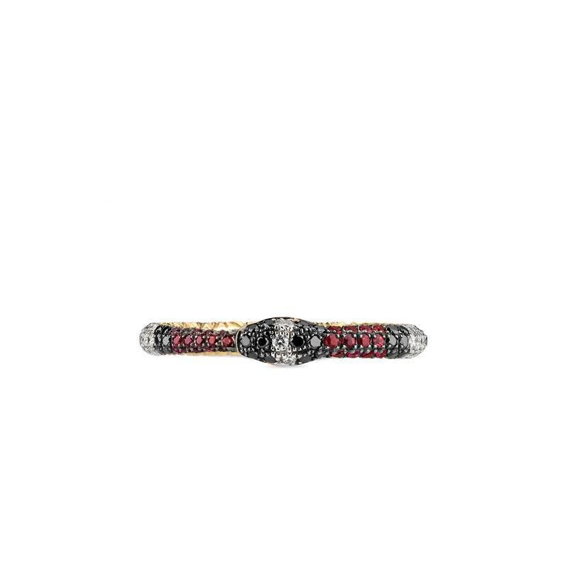 Gucci Ouroboros ring in gold and gemstones 2Nq9CG