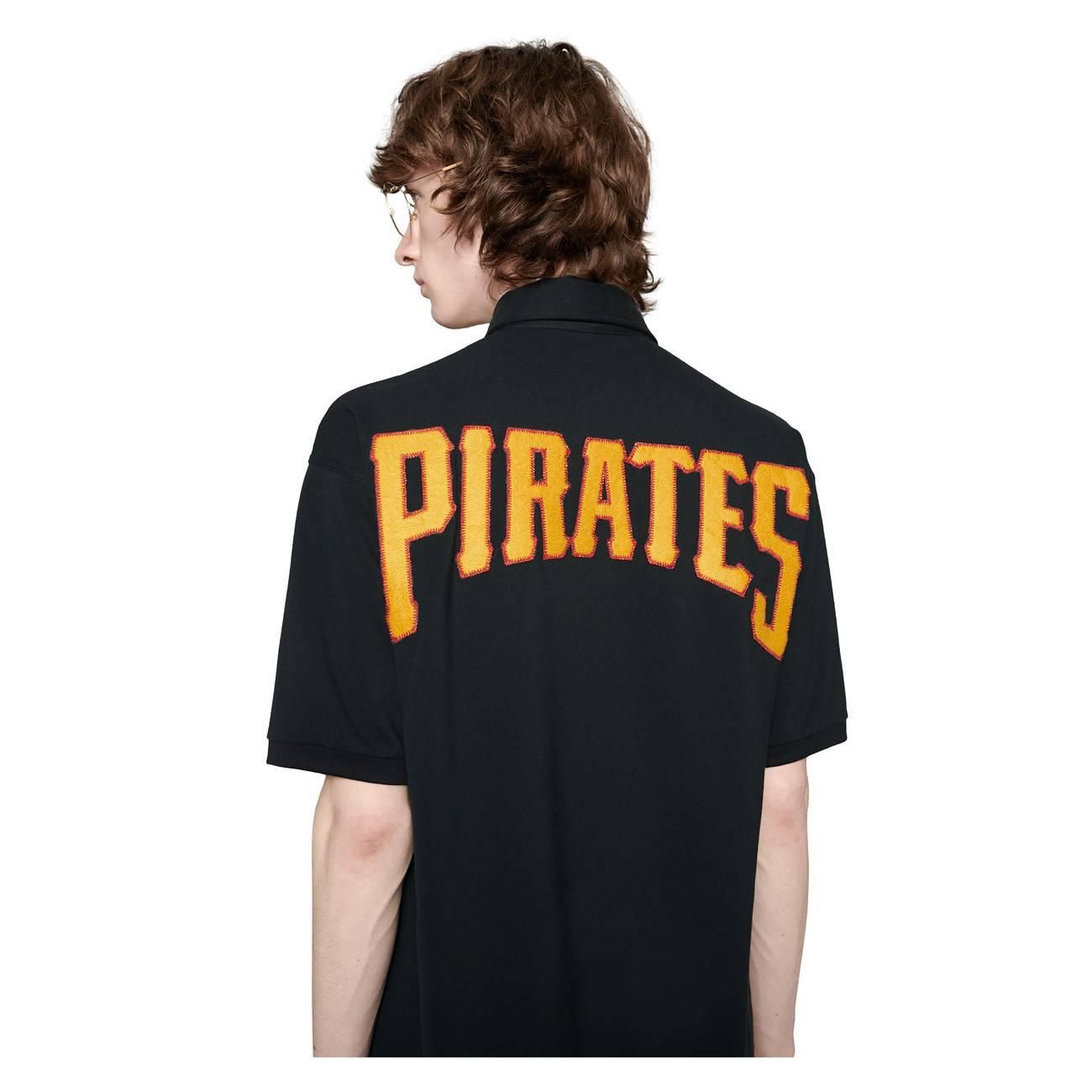 efff13ea Gucci - Black Men's Polo With Pittsburgh Piratestm Patch for Men - Lyst.  View fullscreen