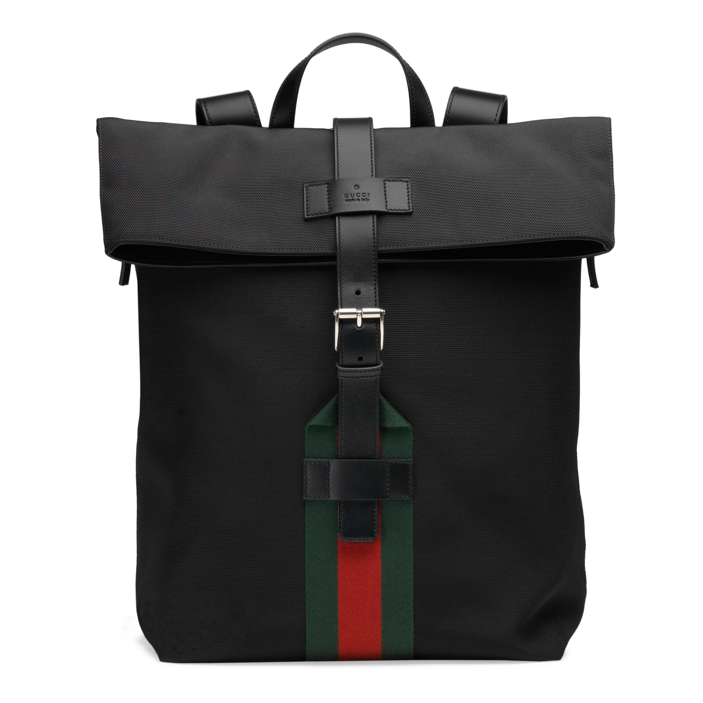 0c950d5009a Gucci Techno Canvas Backpack in Black for Men - Lyst