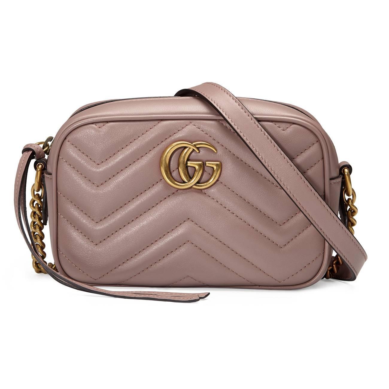 e8b6b29d51f Gucci GG Marmont Small Matelassé Shoulder Bag in Pink - Save 29% - Lyst