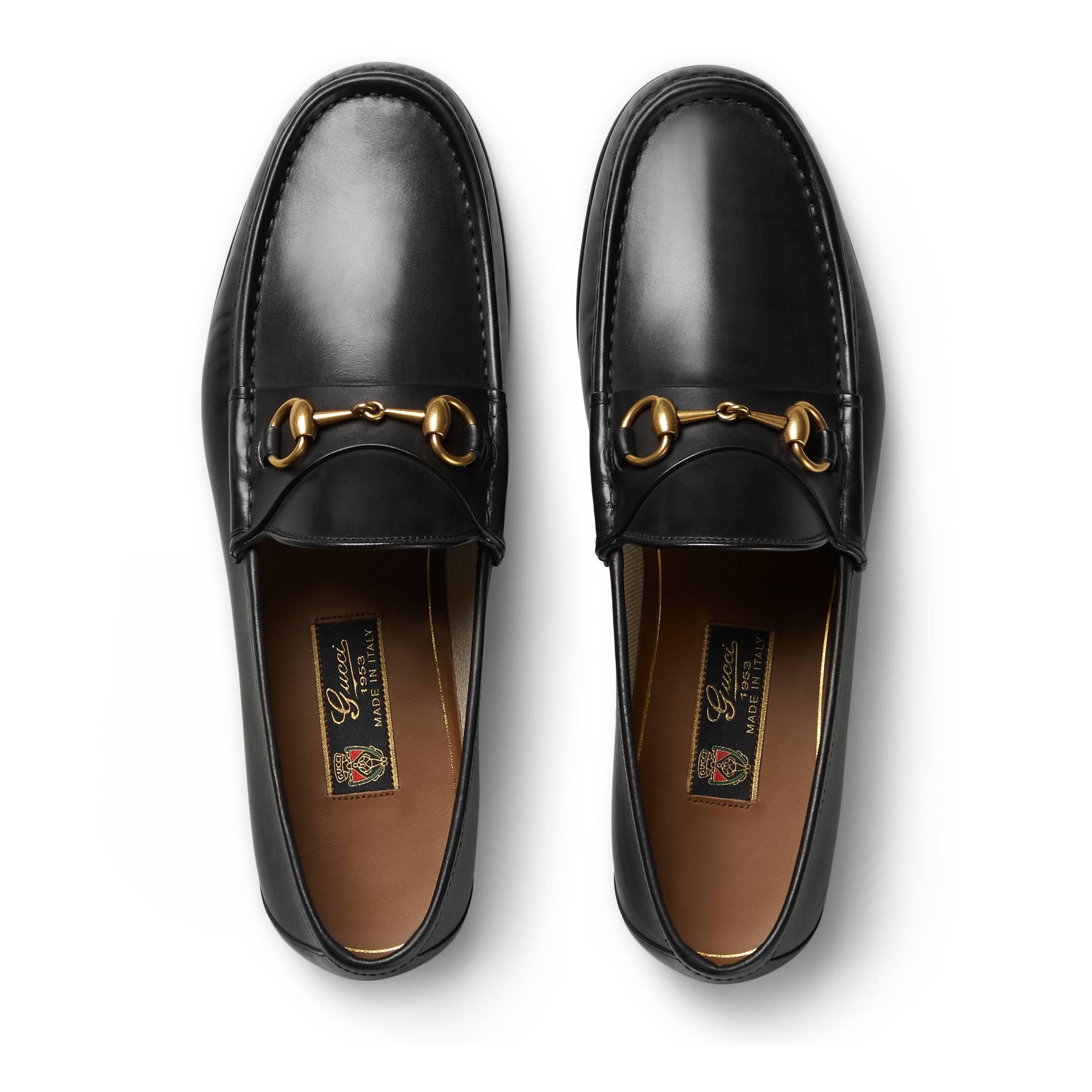 Lyst - Mocassins à mors 1953 en cuir Gucci pour homme en coloris Noir 42a5930da65