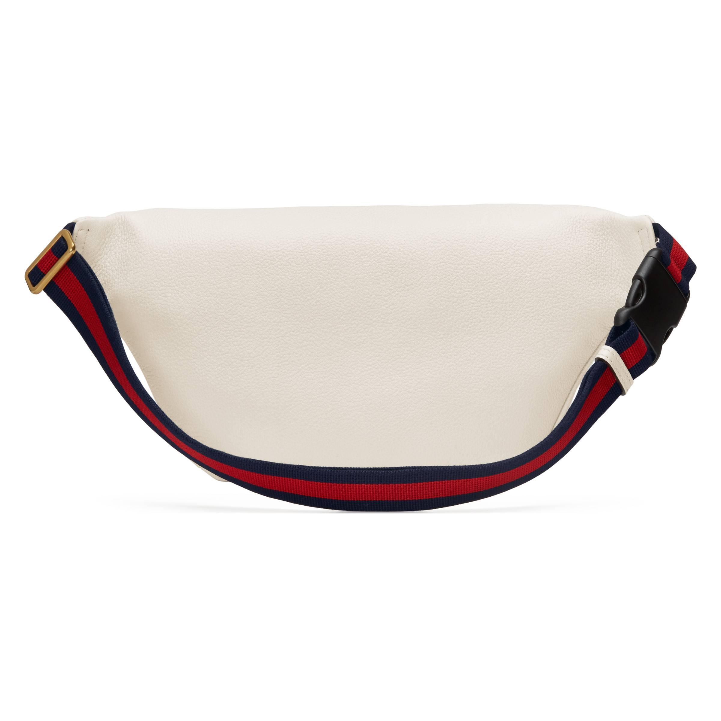 Gucci - White Sac ceinture en cuir imprimé for Men - Lyst. Afficher en  plein écran 074b9145253