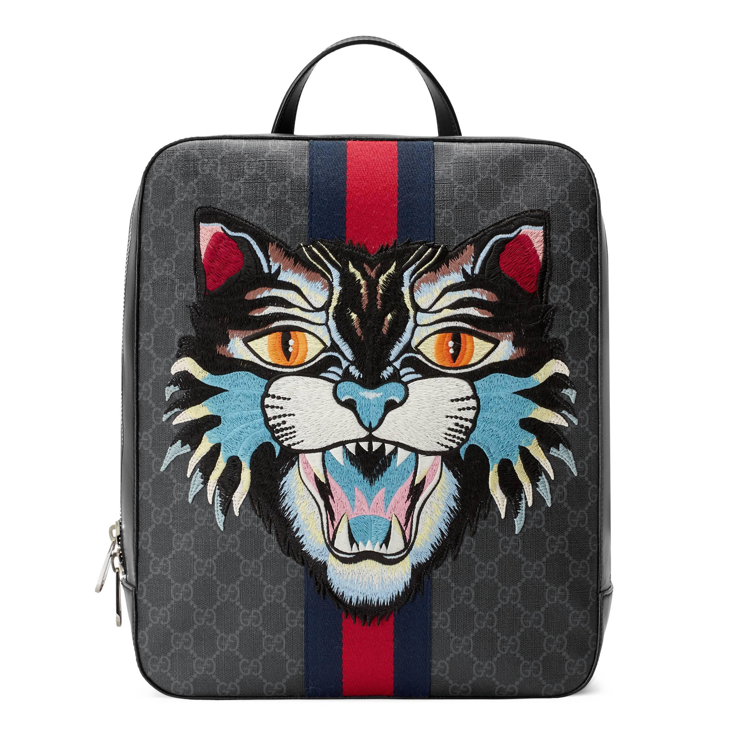 f2a7ad4a012 Gucci Gg Supreme Backpack With Angry Cat for Men - Lyst
