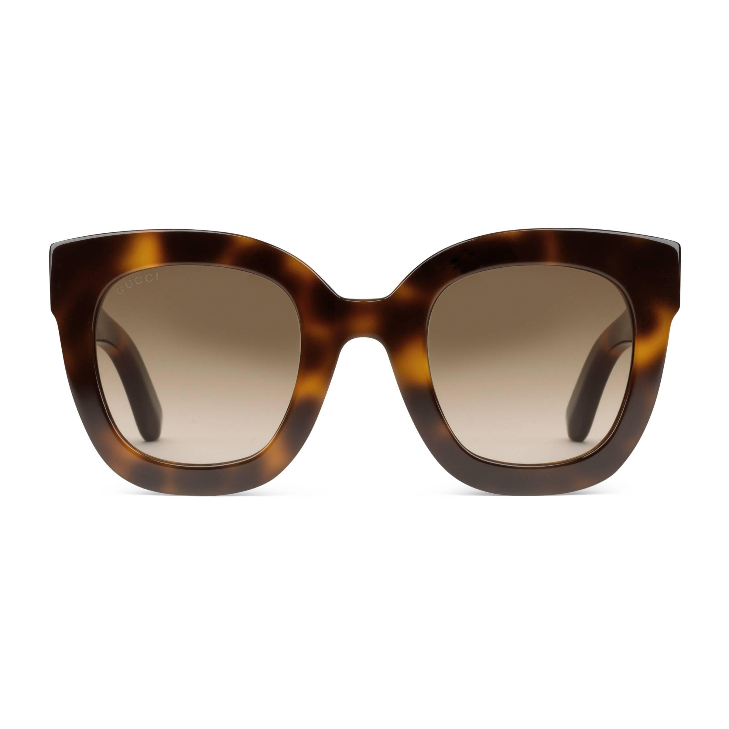 de247a7cc8 Gucci Round-frame Acetate Sunglasses With Star in Brown - Save 6% - Lyst