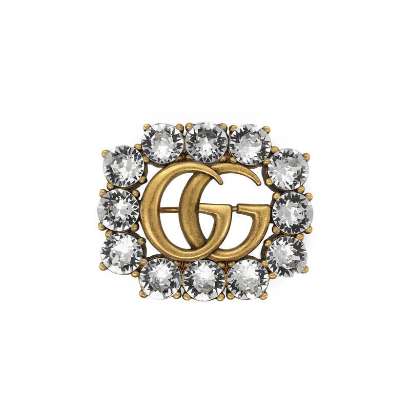 Gucci Magnetismo crystal brooch - Metallic 0w9NPuqs