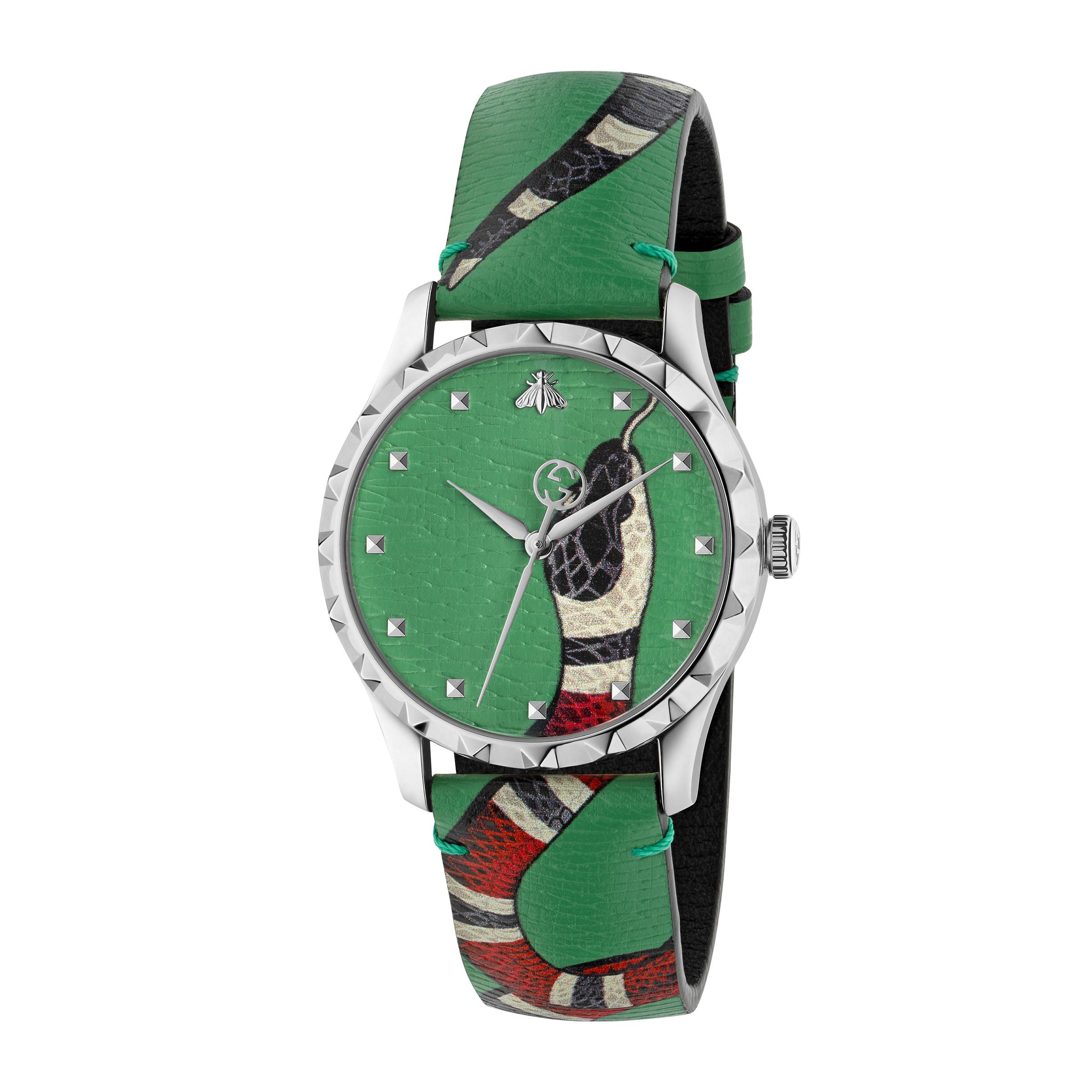 90e219407 Reloj Le Marché Des Merveilles, 38mm Gucci de hombre de color Verde ...