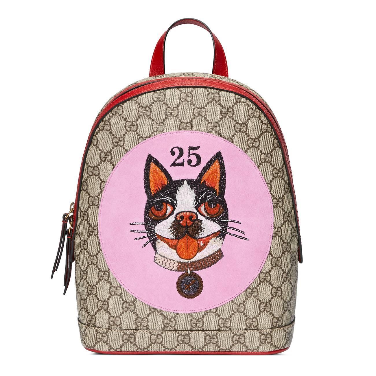 2064962f24f Lyst - Gucci GG Supreme Bosco Backpack Beige in Natural