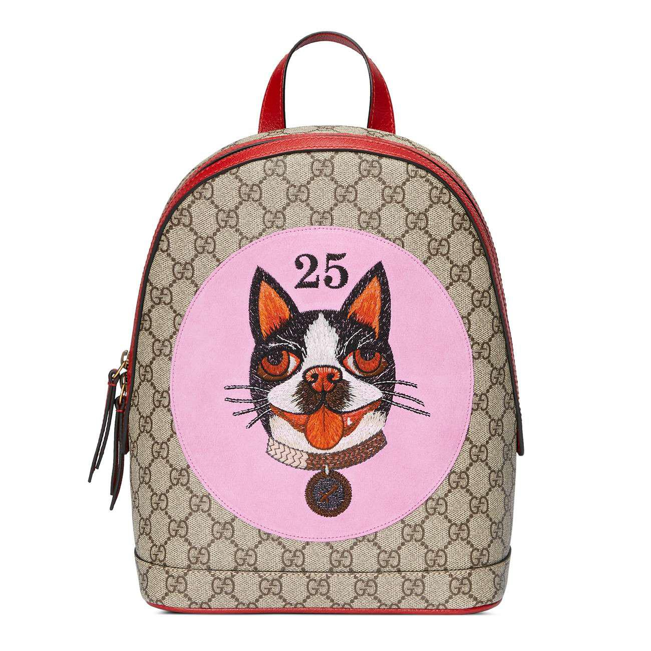 1a2a3d3bbf7d Gucci GG Supreme Bosco Backpack in Pink - Lyst