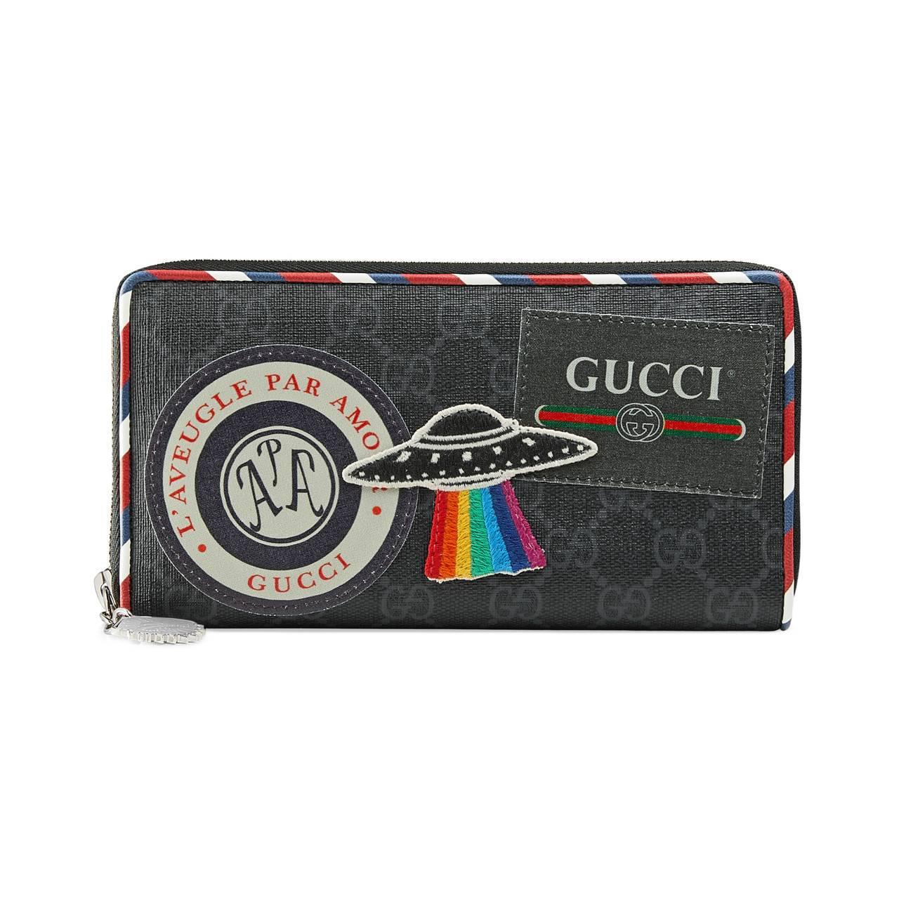 b1896c2ec705 Gucci - Black Night Courrier Gg Supreme Zip Around Wallet for Men - Lyst.  View fullscreen