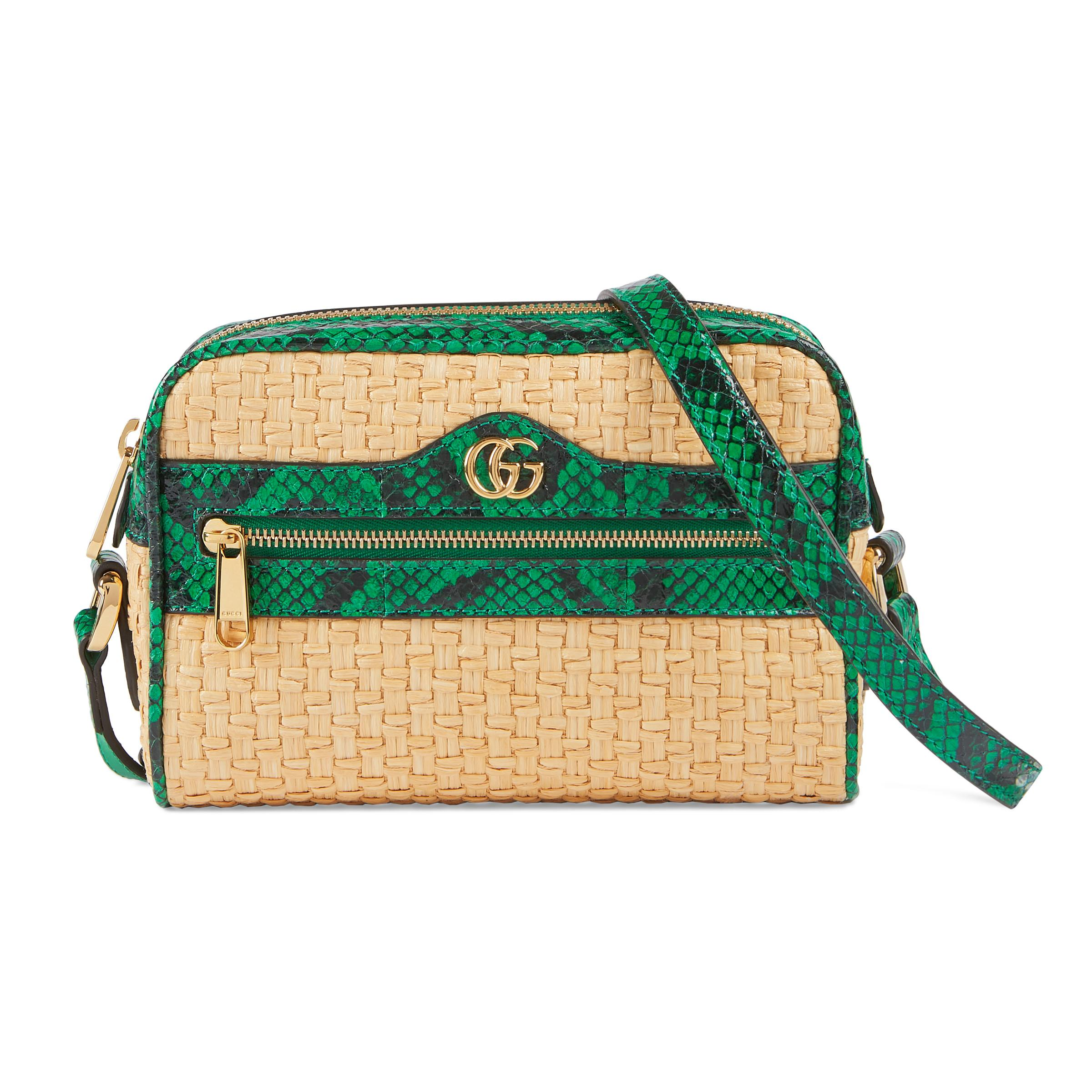 25a6623568ac Gucci Online Exclusive Ophidia Mini Bag in White - Lyst