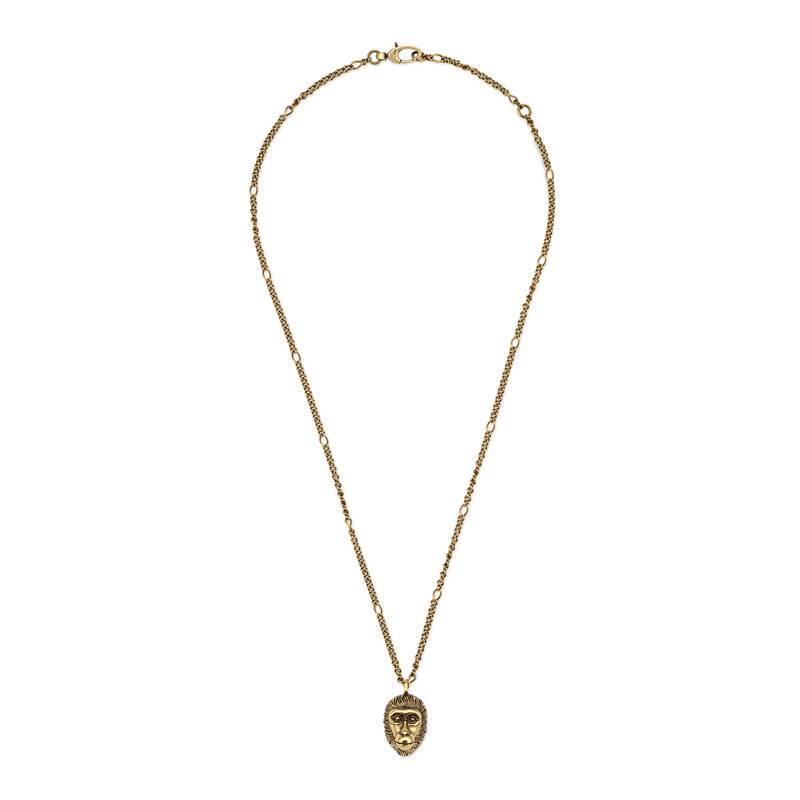 Gucci Monkey head pendant necklace BtCuKWt2