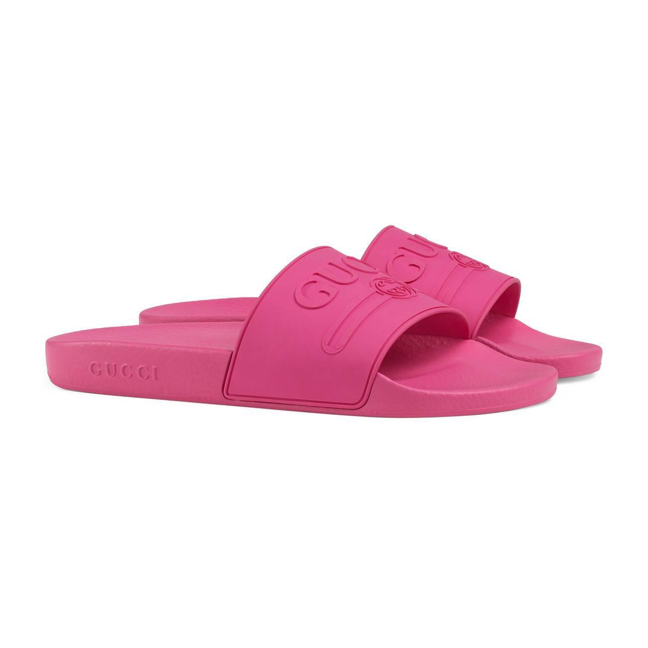 953115650a73e3 Gucci - Purple Logo Rubber Slide Sandal for Men - Lyst. View fullscreen