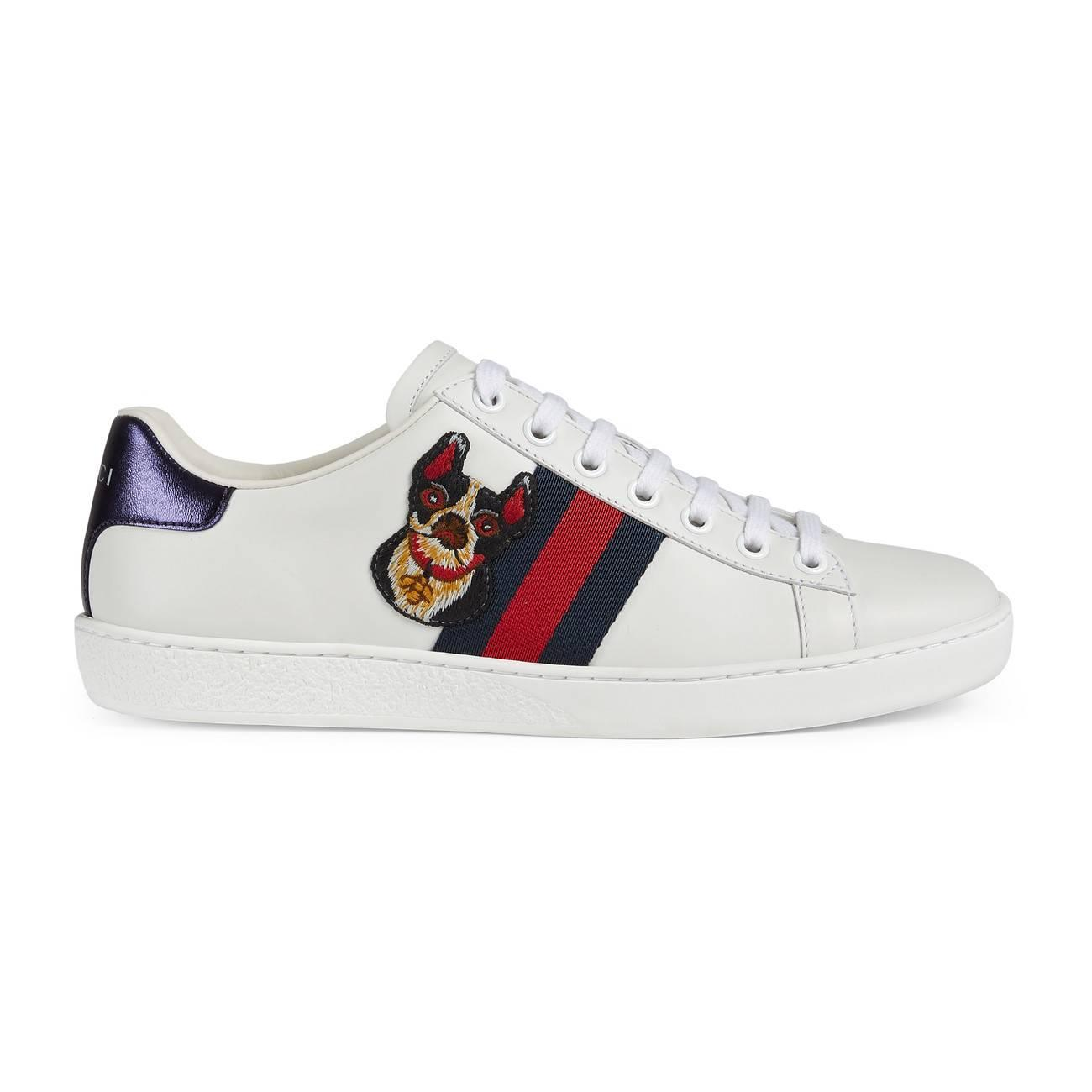 1edcd428c59 Lyst - Gucci Women s Ace Embroidered Sneaker White in White