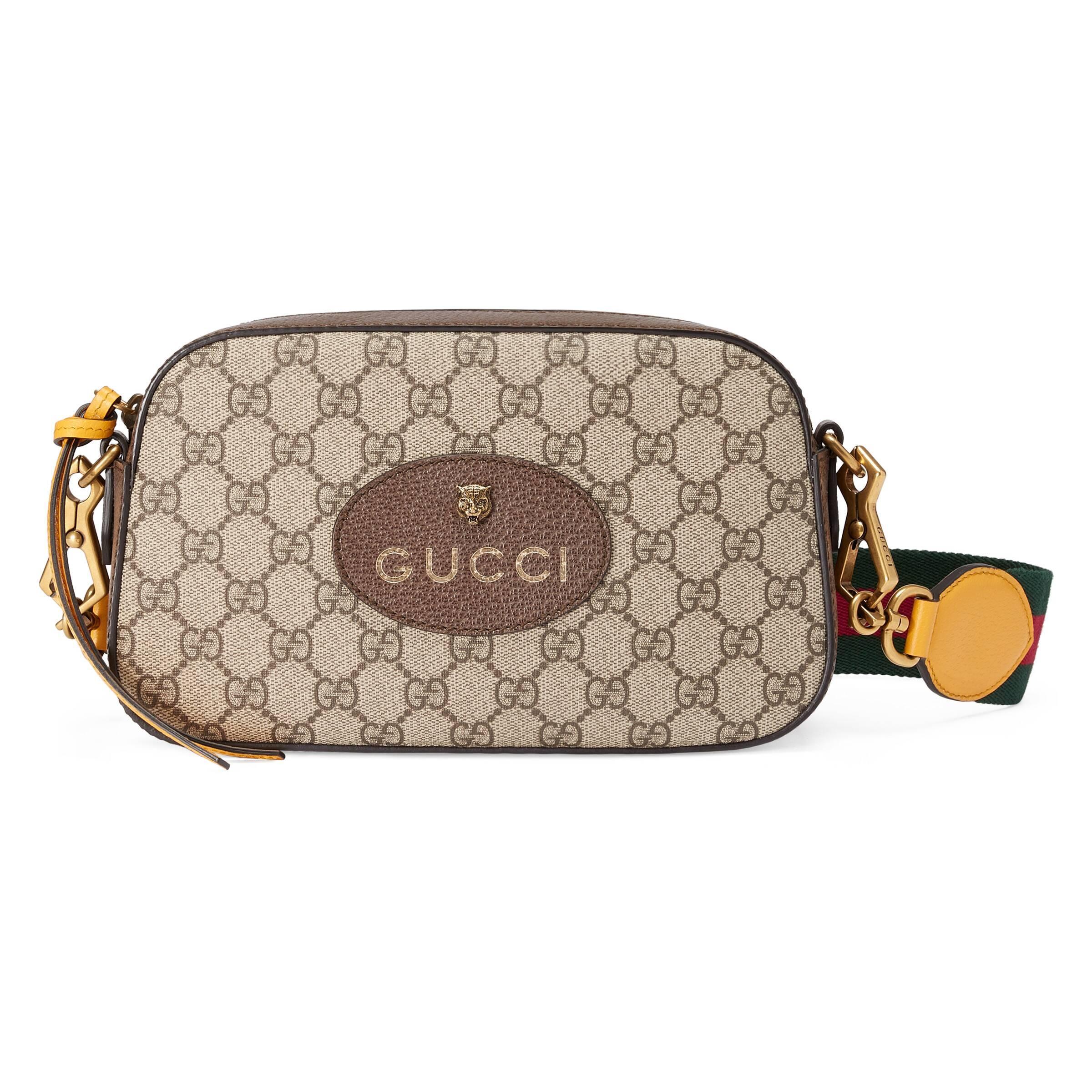 852c32428df25 Gucci - Natural Umhängetasche aus GG Supreme - Lyst. Vollbild ansehen