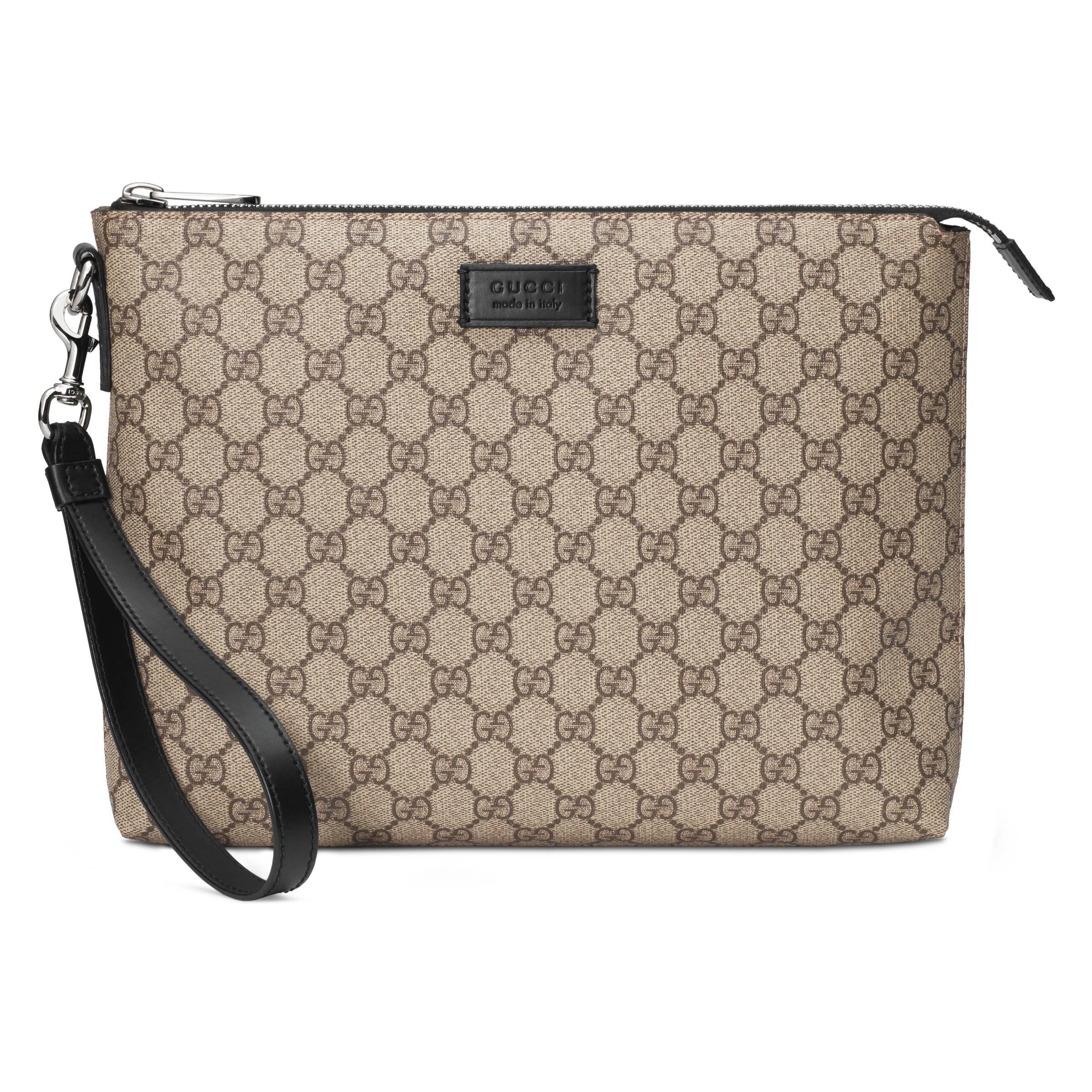 67e68676fb3 Gucci GG Supreme Men s Bag in Natural for Men - Lyst