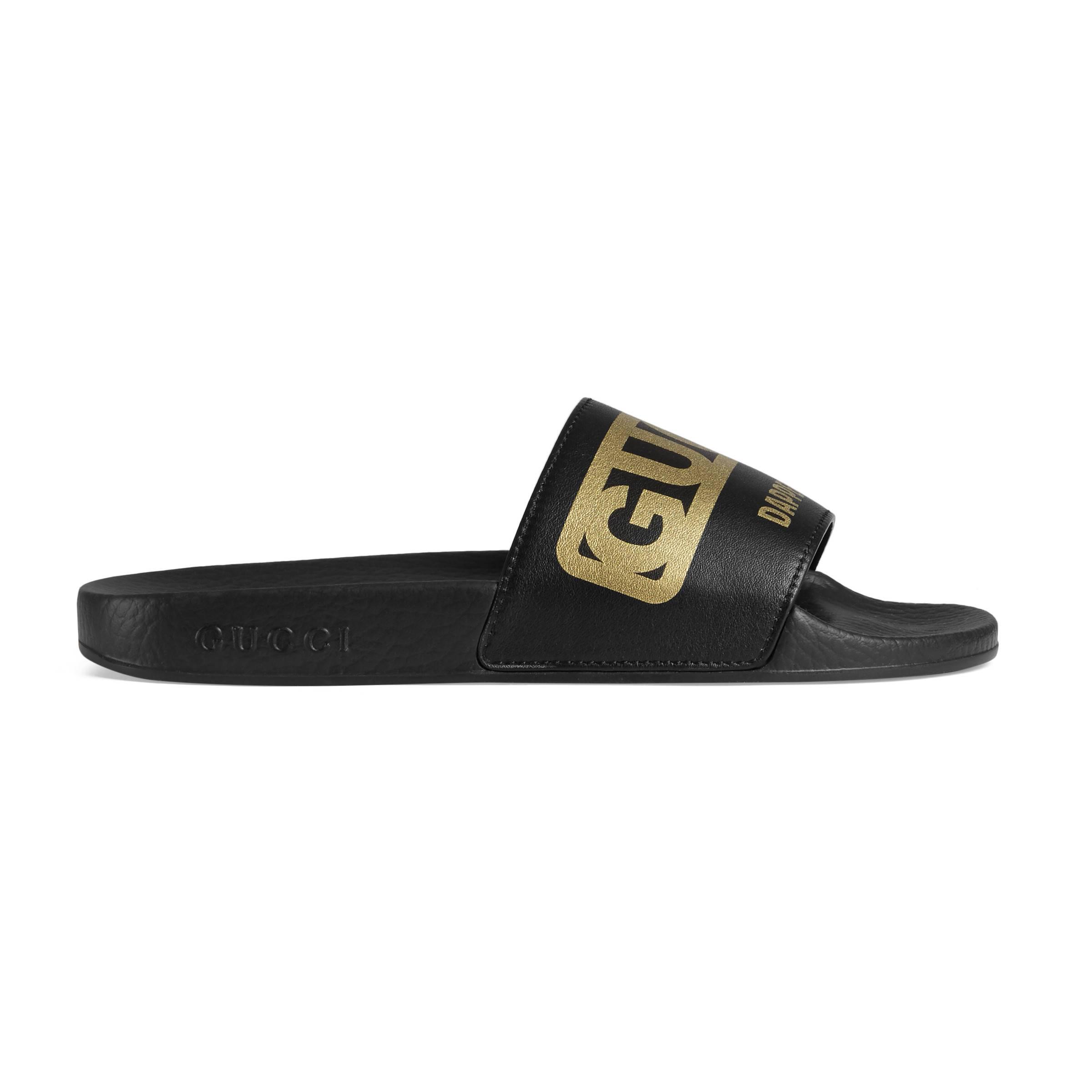 48b3dbf3b Gucci Women s -dapper Dan Slide Sandal in Black - Lyst