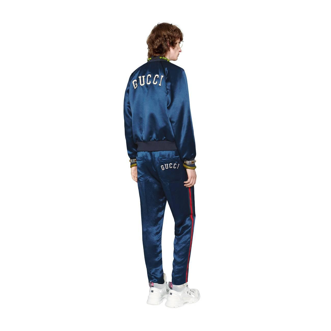 ec48fae140c6e Gucci - Blue Men s Jacket With Ny Yankeestm Patch for Men - Lyst. View  fullscreen