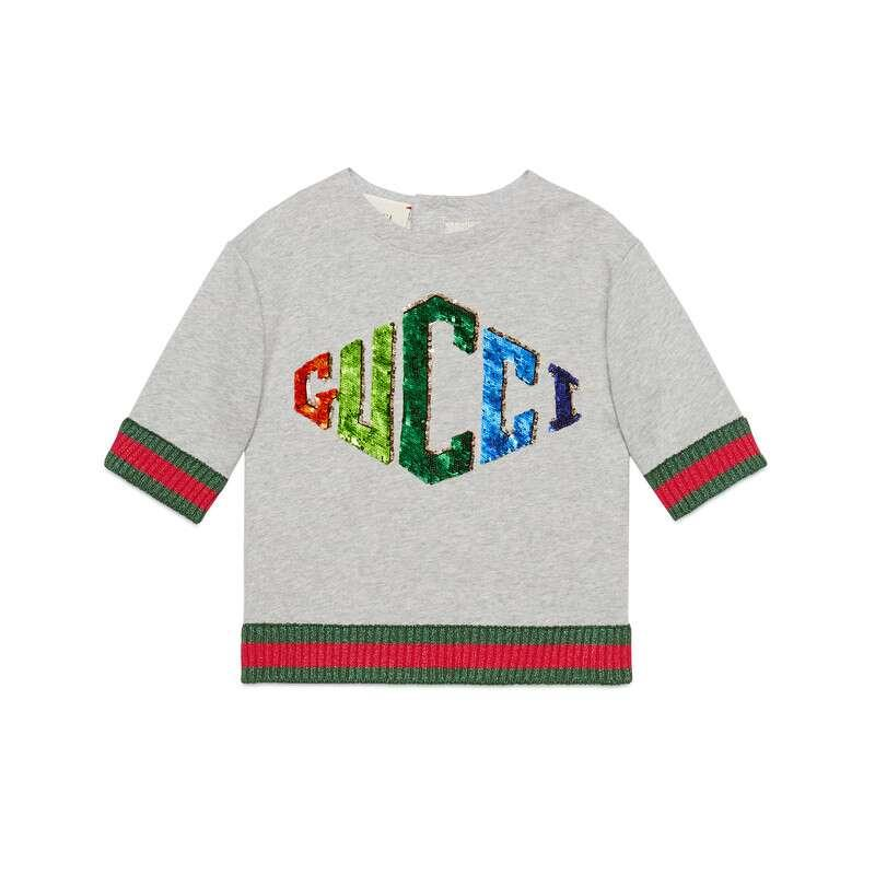 411ee128e Gucci Children's Sweatshirt With Game Patch in White - Lyst