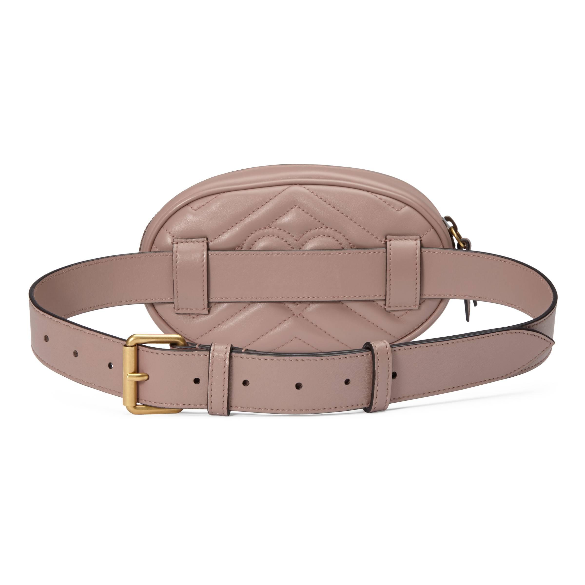 Gucci Gg Marmont Matelass Leather Belt Bag In Natural Lyst