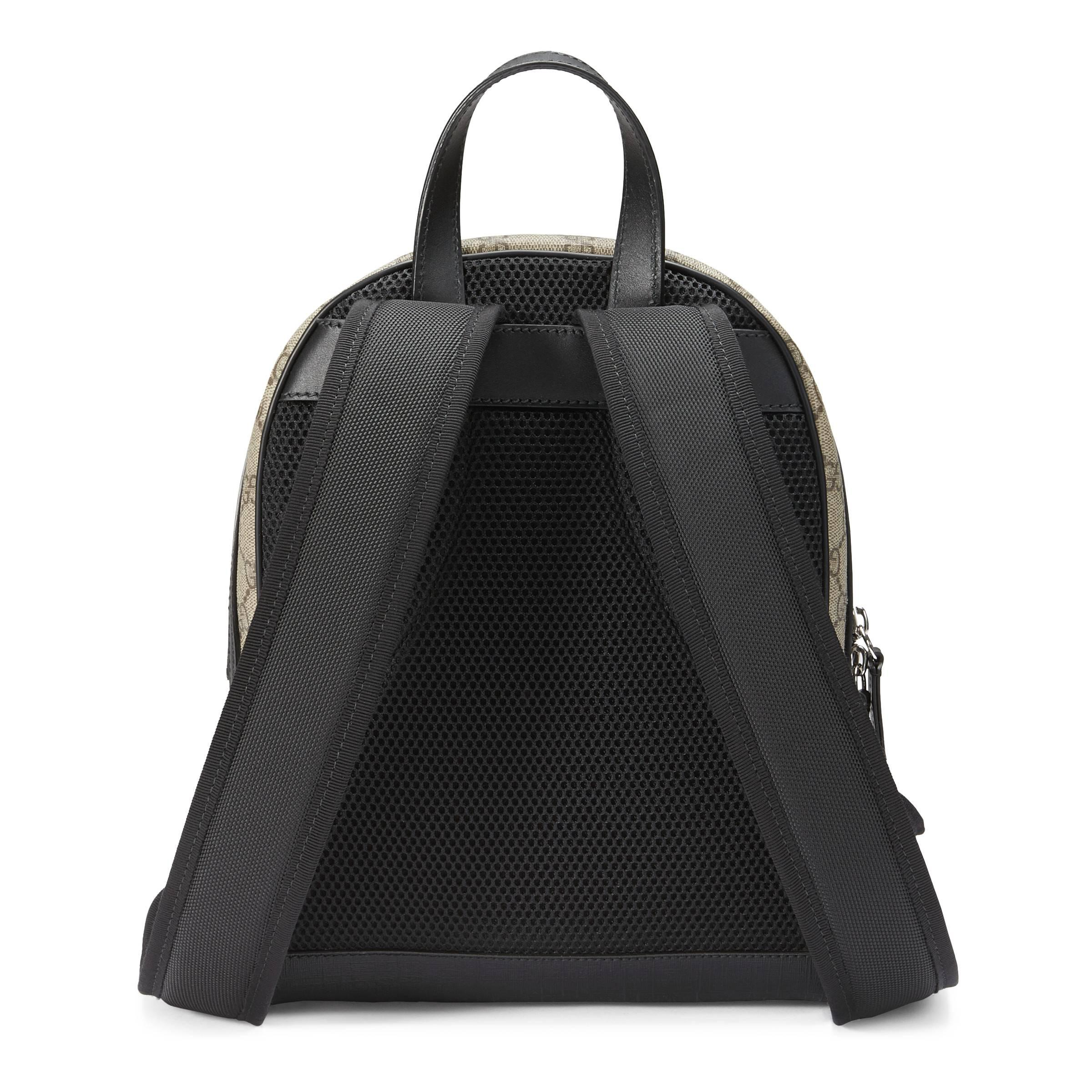 a43510ab787 Gucci - Natural GG Supreme Small Backpack - Lyst. View fullscreen