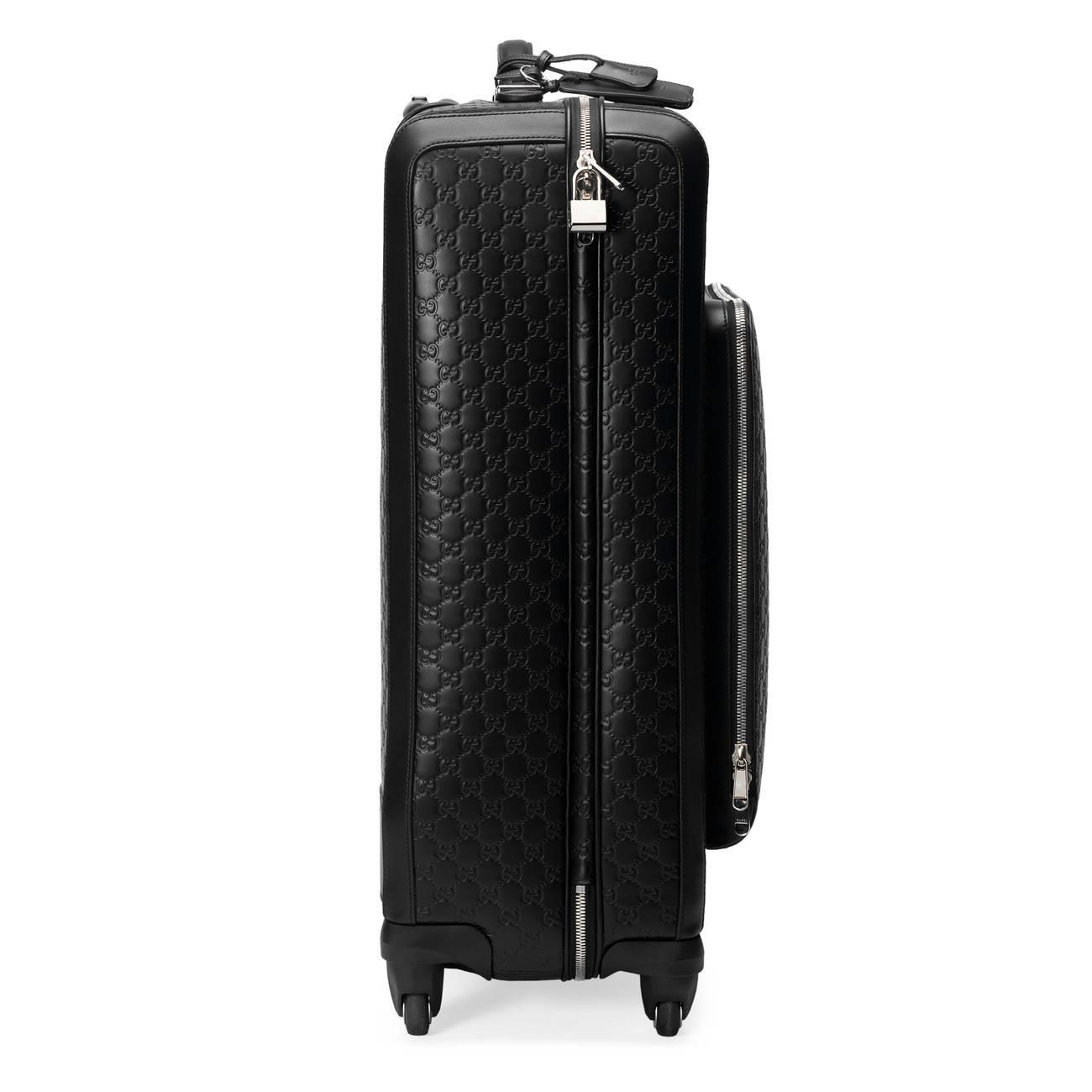 49063ac32 Lyst - Gucci Signature Suitcase in Black