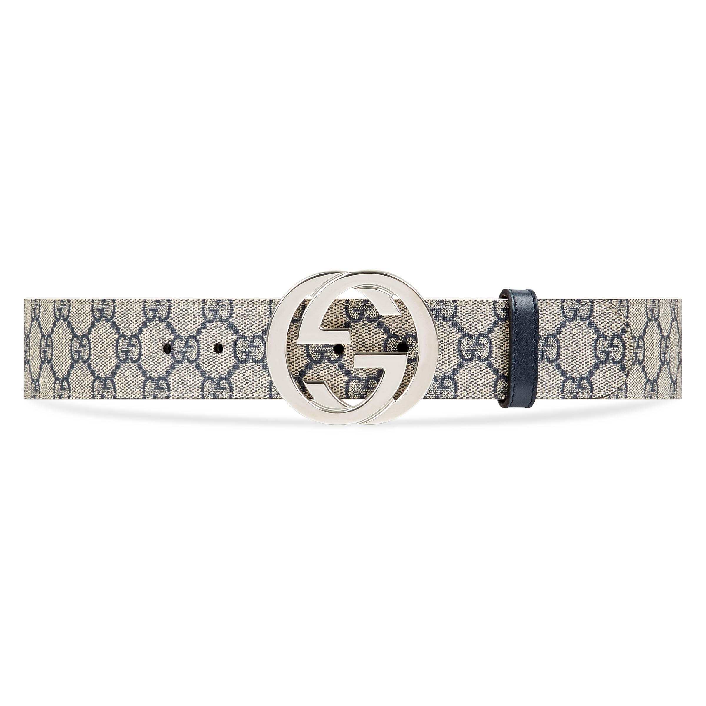 9ef58267d Gucci GG Supreme Belt With G Buckle in Blue for Men - Save 8% - Lyst