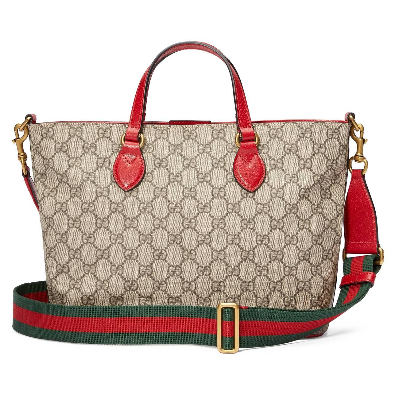 f32c40960007 Lyst - Gucci GG Supreme Bosco Tote in Natural