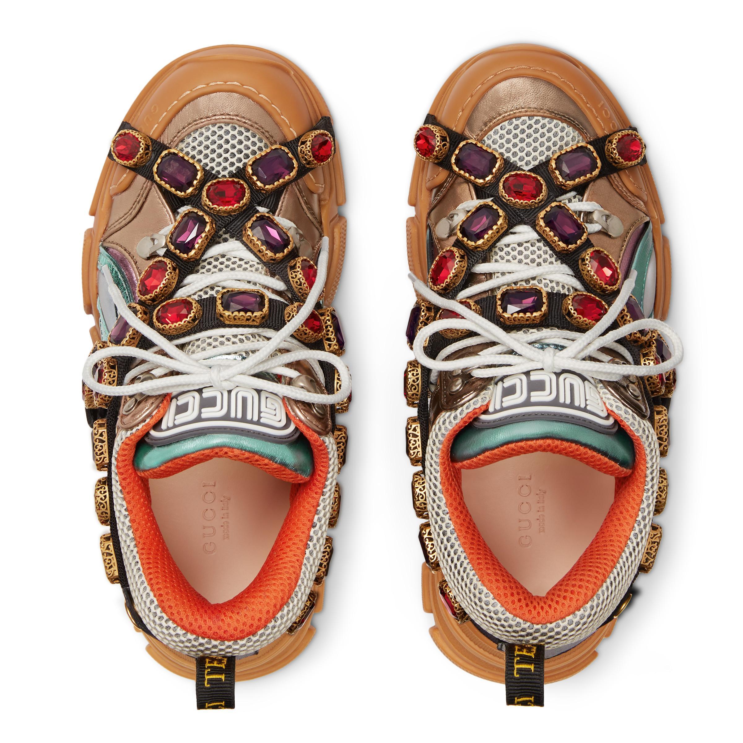 eccd2628091 Gucci - Multicolor Zapatilla Deportiva Flashtrek con Cristales Desmontables  - Lyst. Ver en pantalla completa