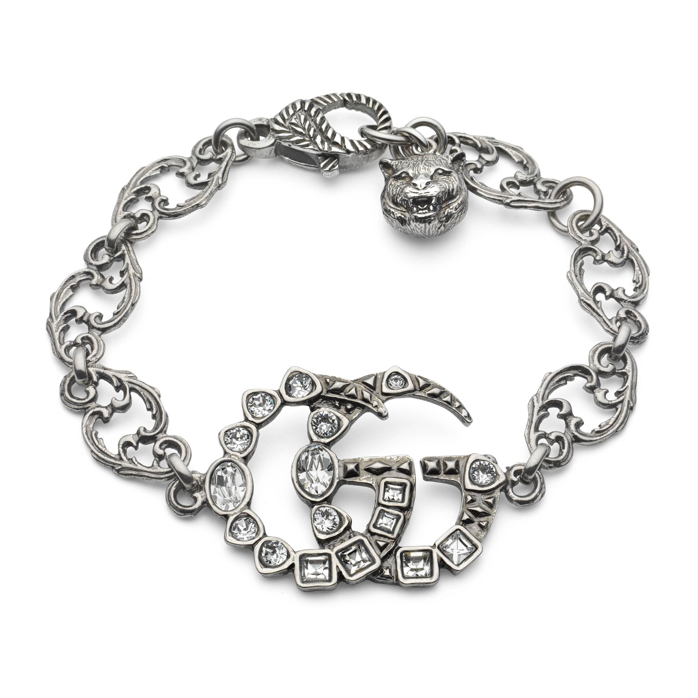 049dcce46 Gucci - Metallic Pulsera con Doble G de Cristales - Lyst. Ver en pantalla  completa