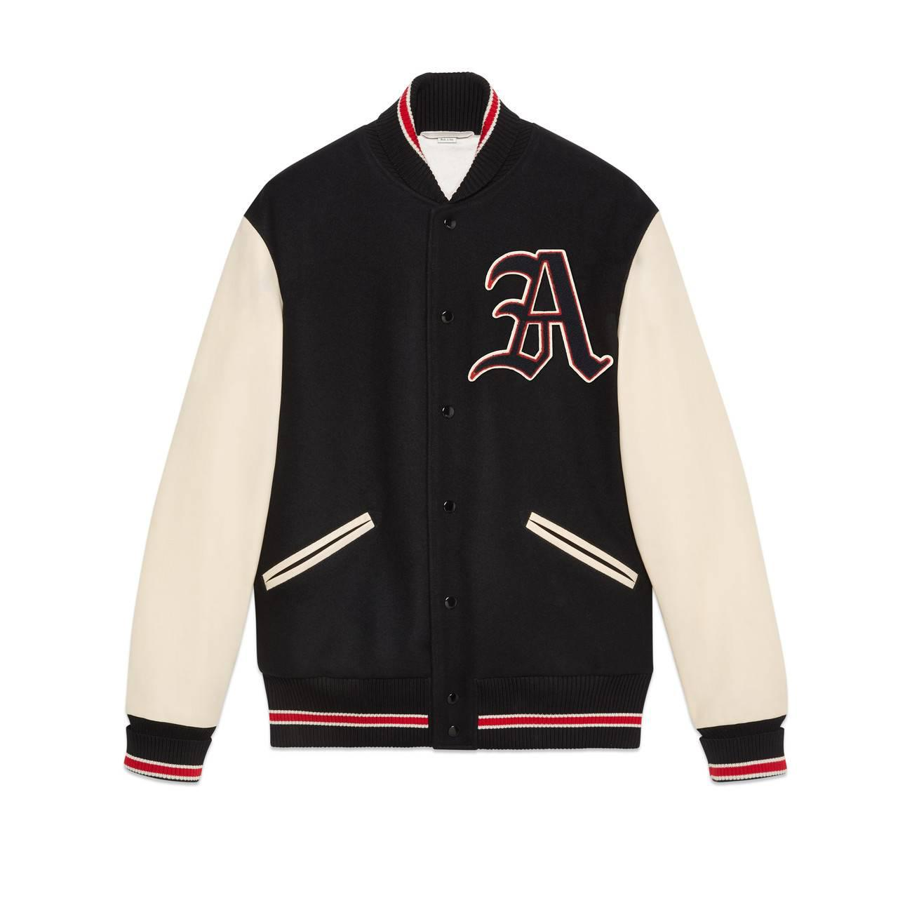 61893cd3c Lyst - Gucci Bomber Jacket With Patches in White for Men