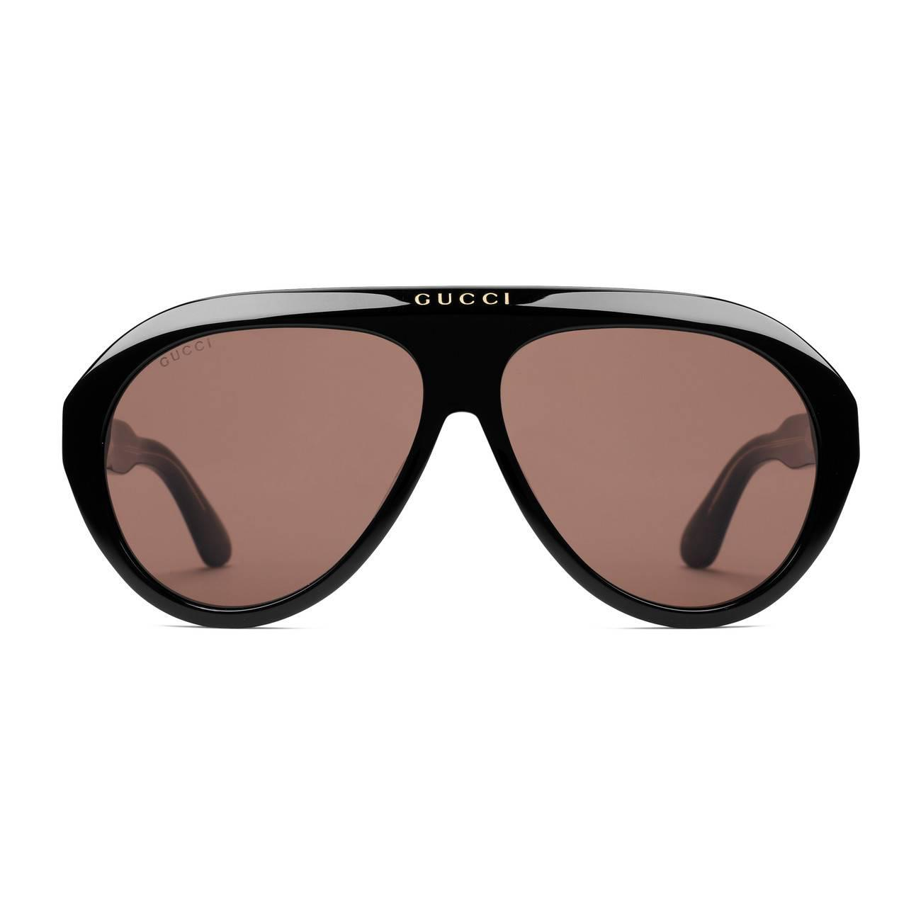 0a657c4f78cb Lyst - Gucci Navigator Sunglasses With Double G in Brown for Men