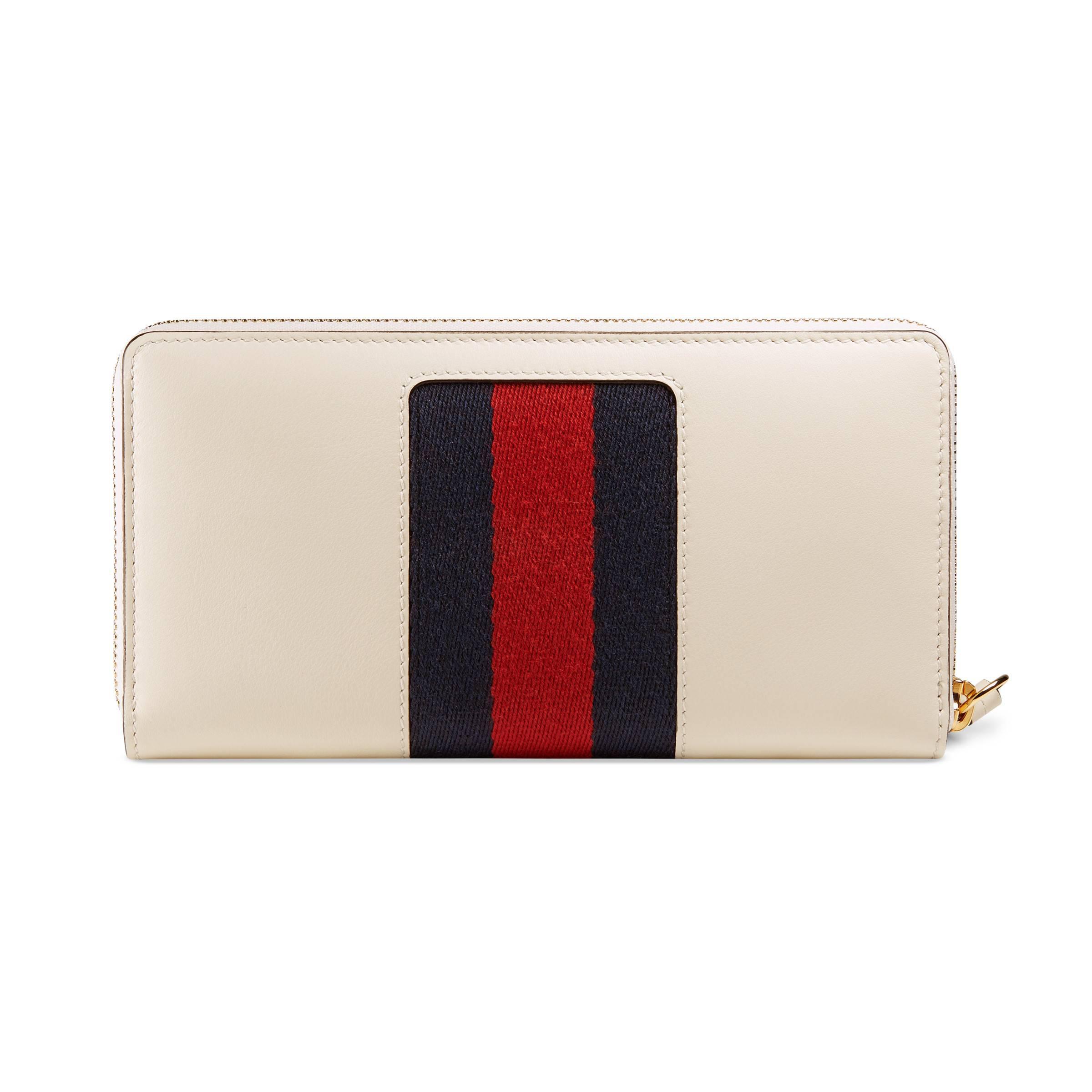 fe61b323d7e2e3 Gucci - White Sylvie Leather Zip Around Wallet - Lyst. View fullscreen
