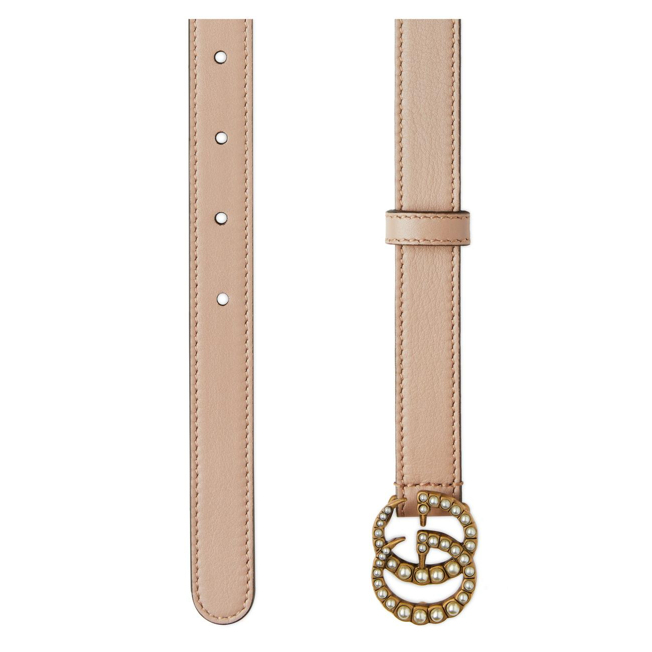 70d3041a173 Gucci - Multicolor Pearl Double G Buckle Belt - Lyst. View fullscreen