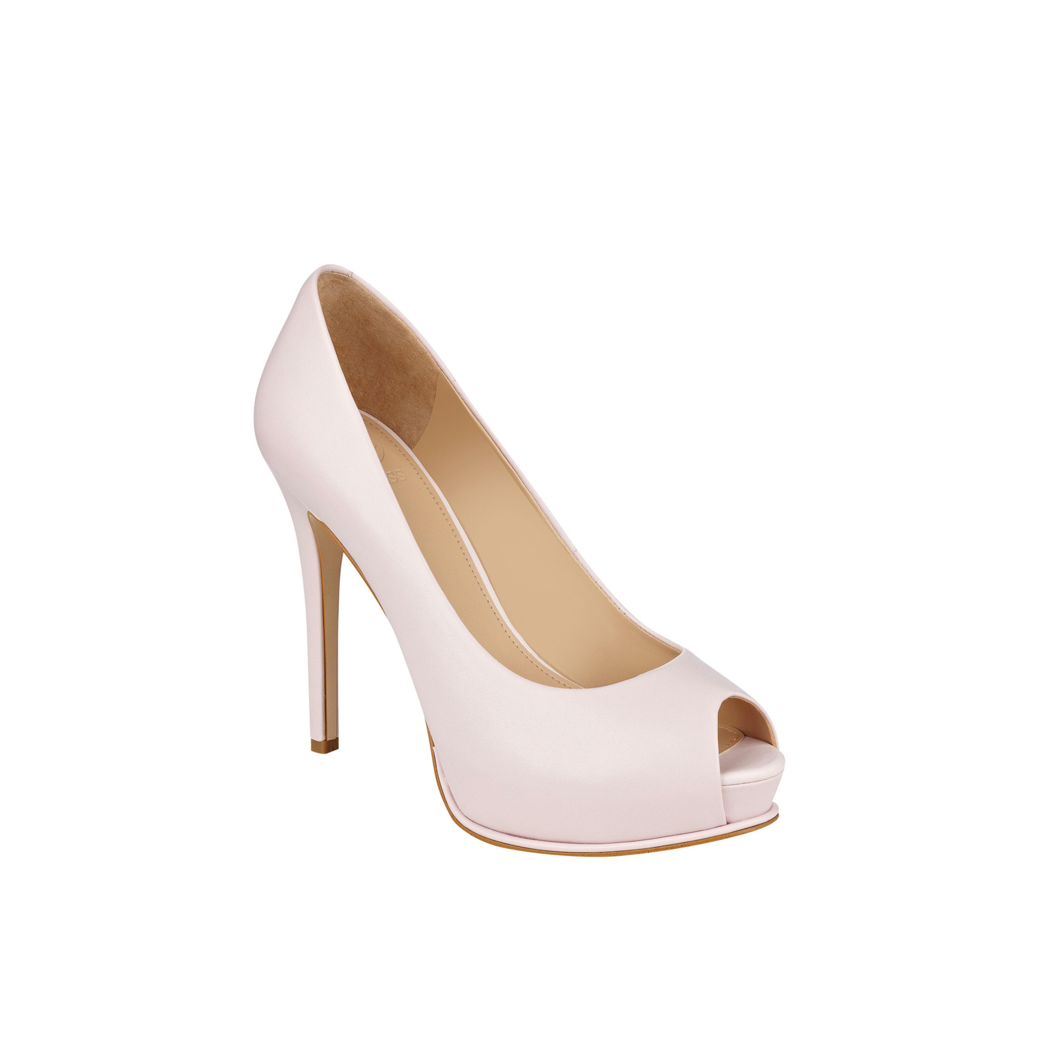 Guess. Women's Pink Honora Peep-toe Platform Pumps