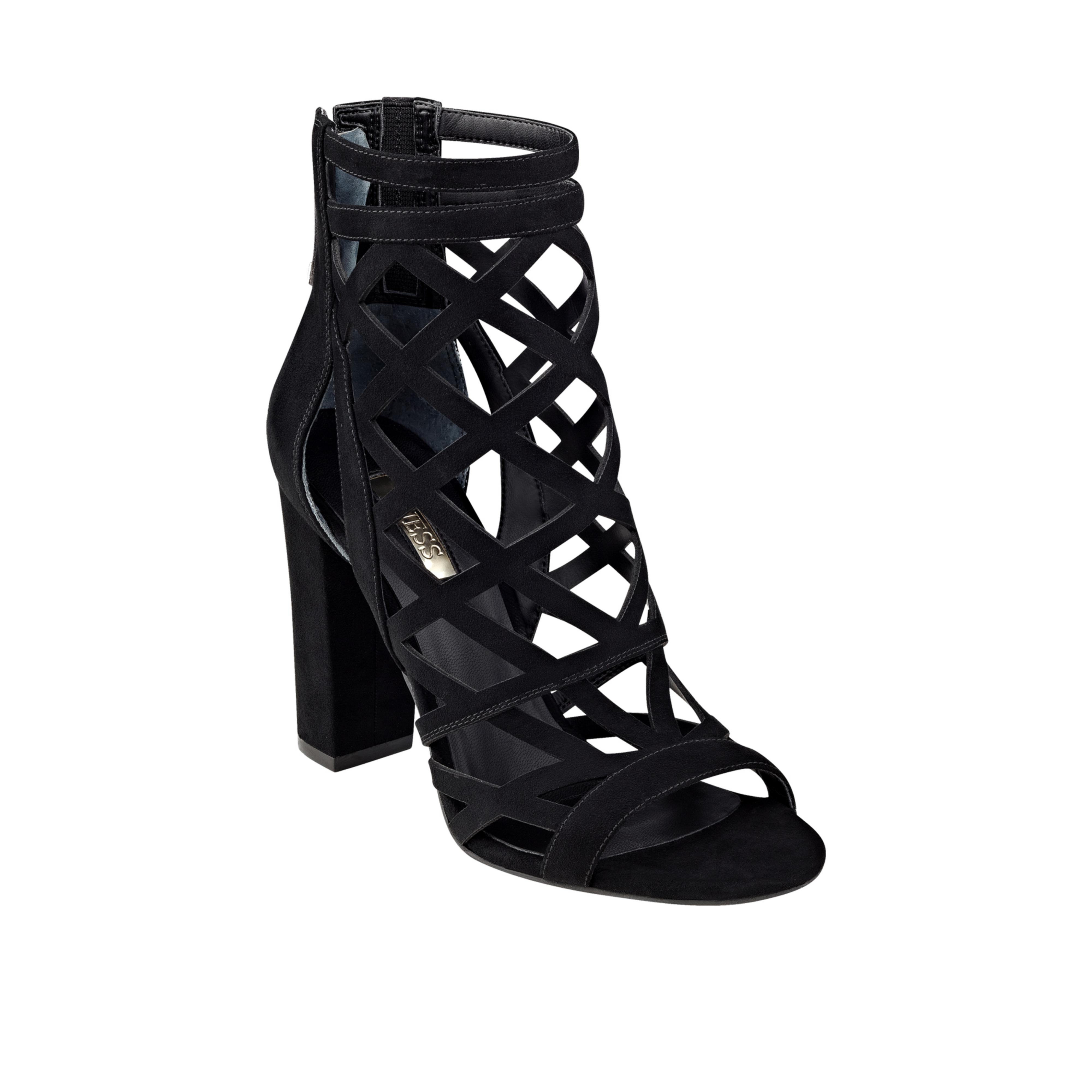 ff3f3e39804 Lyst - Guess Eriel Caged Heels in Black