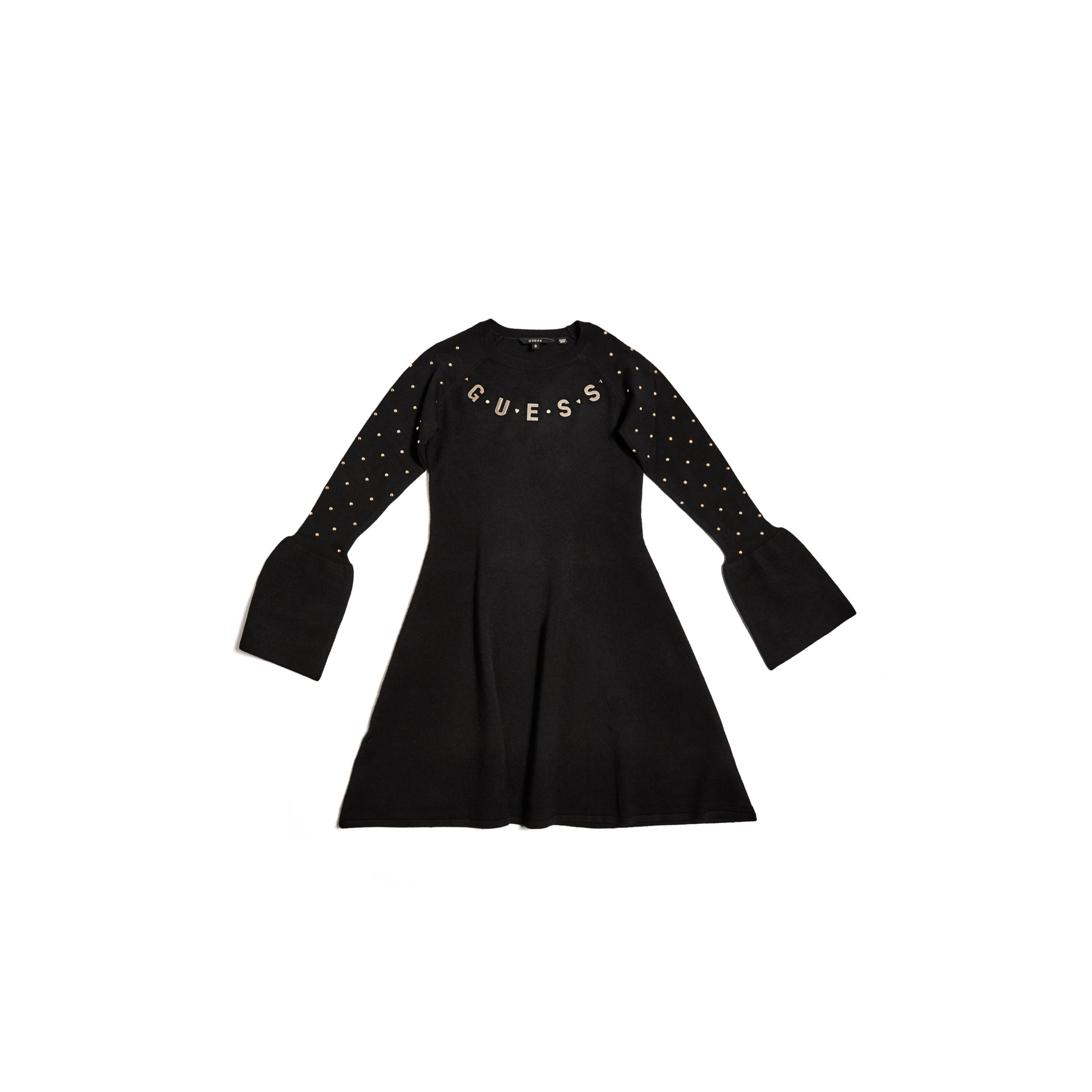 b673d585c81 Lyst - Guess Studded Sweater Dress (7-16) in Black
