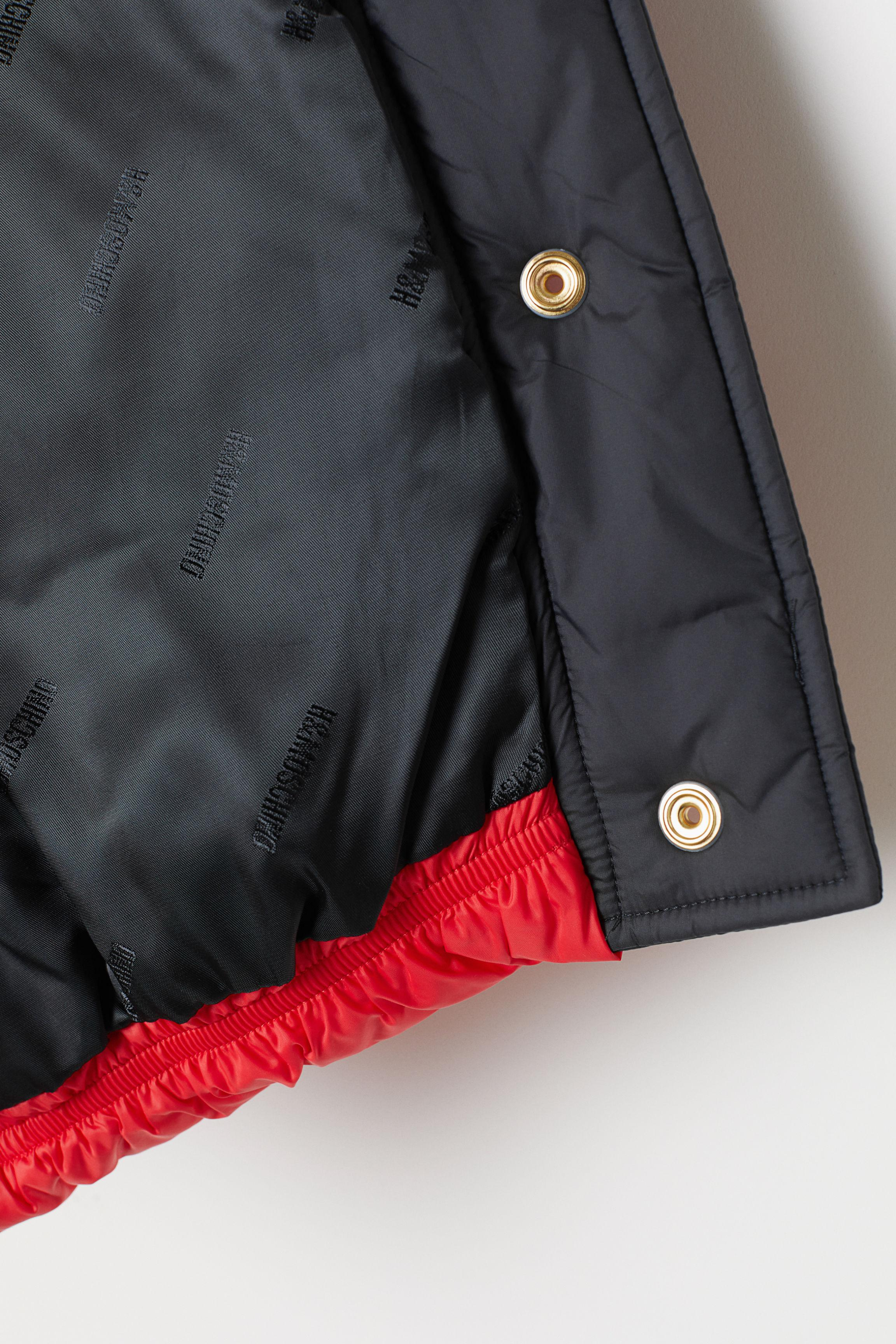 1e137286d9c7 H M - Red Cropped Padded Jacket - Lyst. View fullscreen