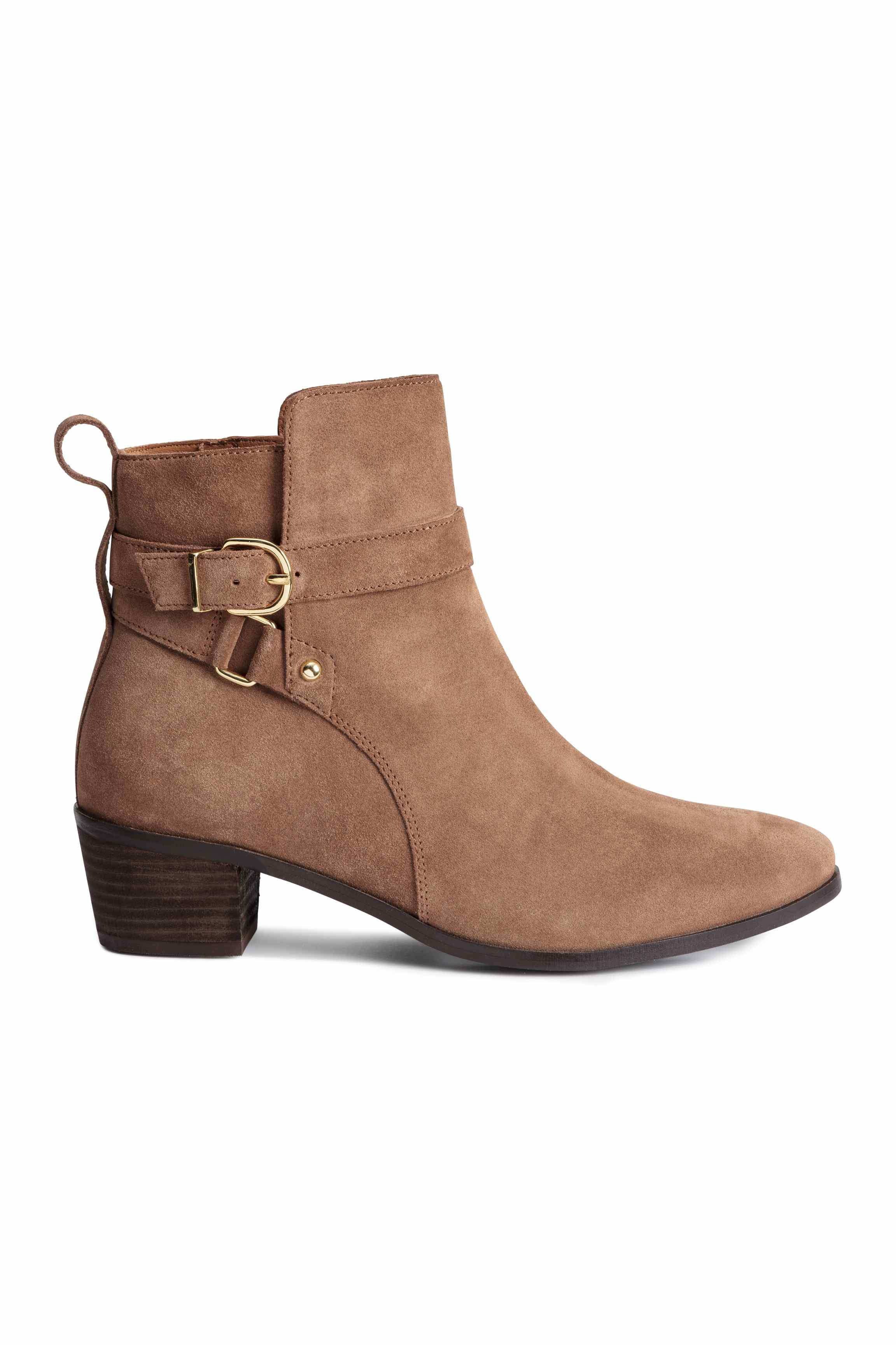 H&m Suede Boots in Brown (Light brown)